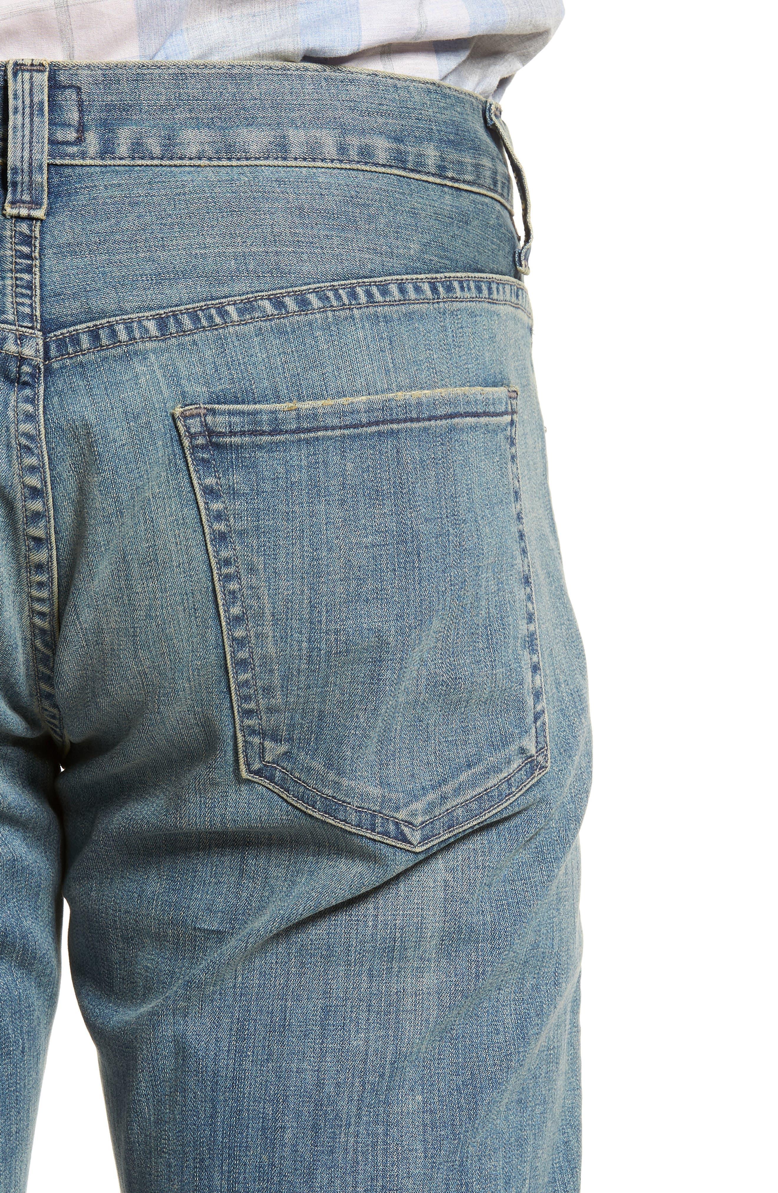 Gage Slim Straight Leg Jeans,                             Alternate thumbnail 4, color,                             ADLER