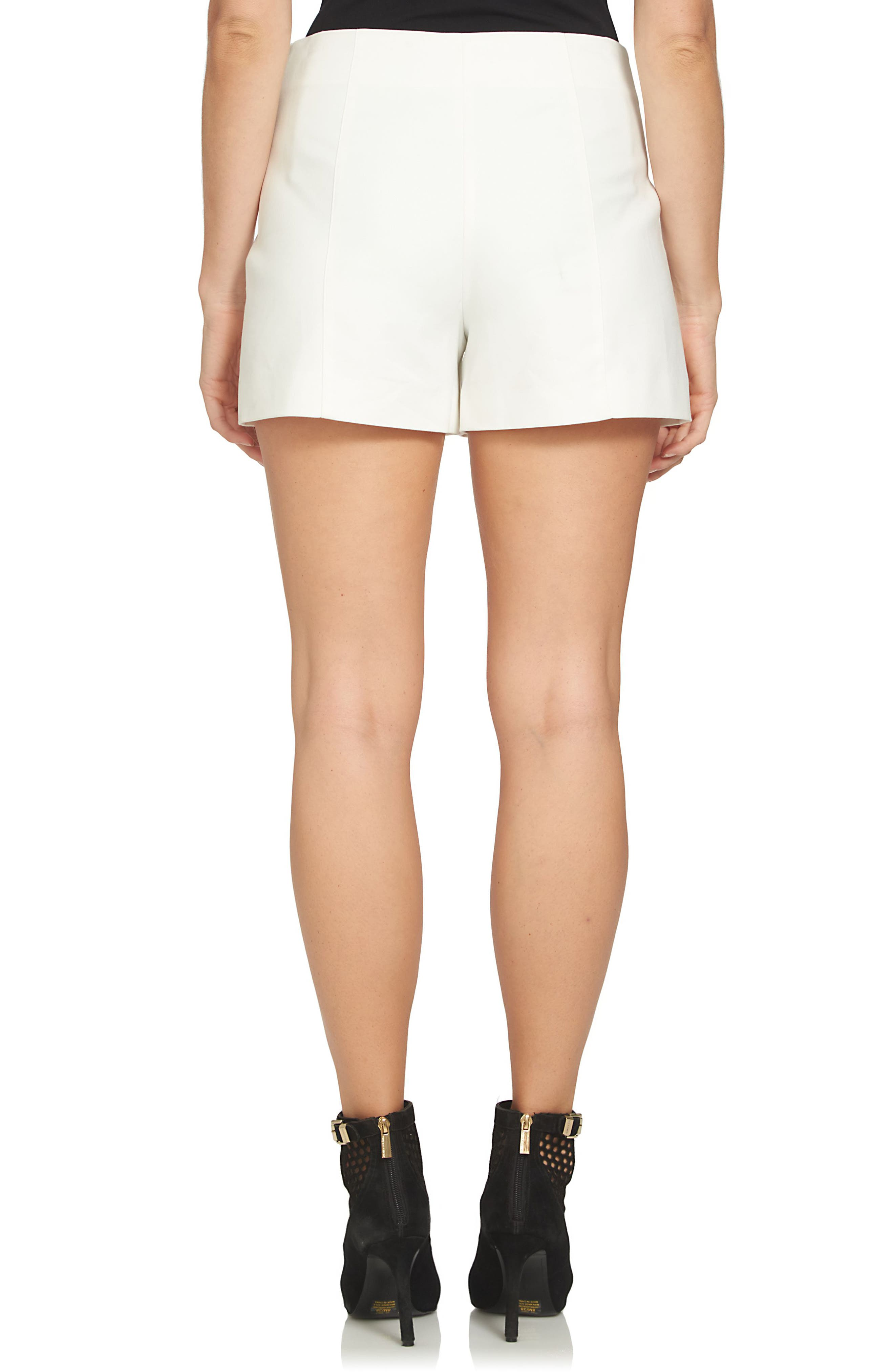 Flat Front Shorts,                             Alternate thumbnail 2, color,                             NEW IVORY