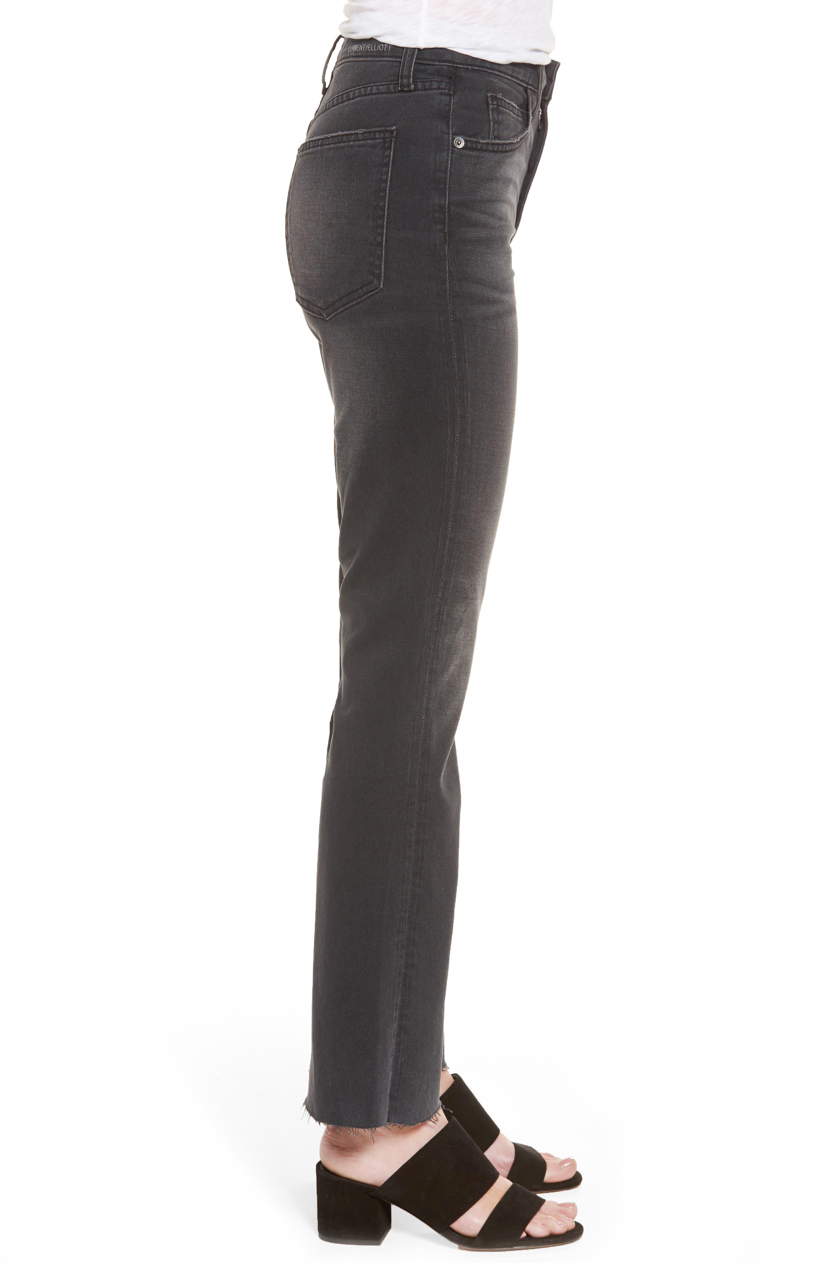 The Kick High Waist Crop Flare Jeans,                             Alternate thumbnail 3, color,                             017