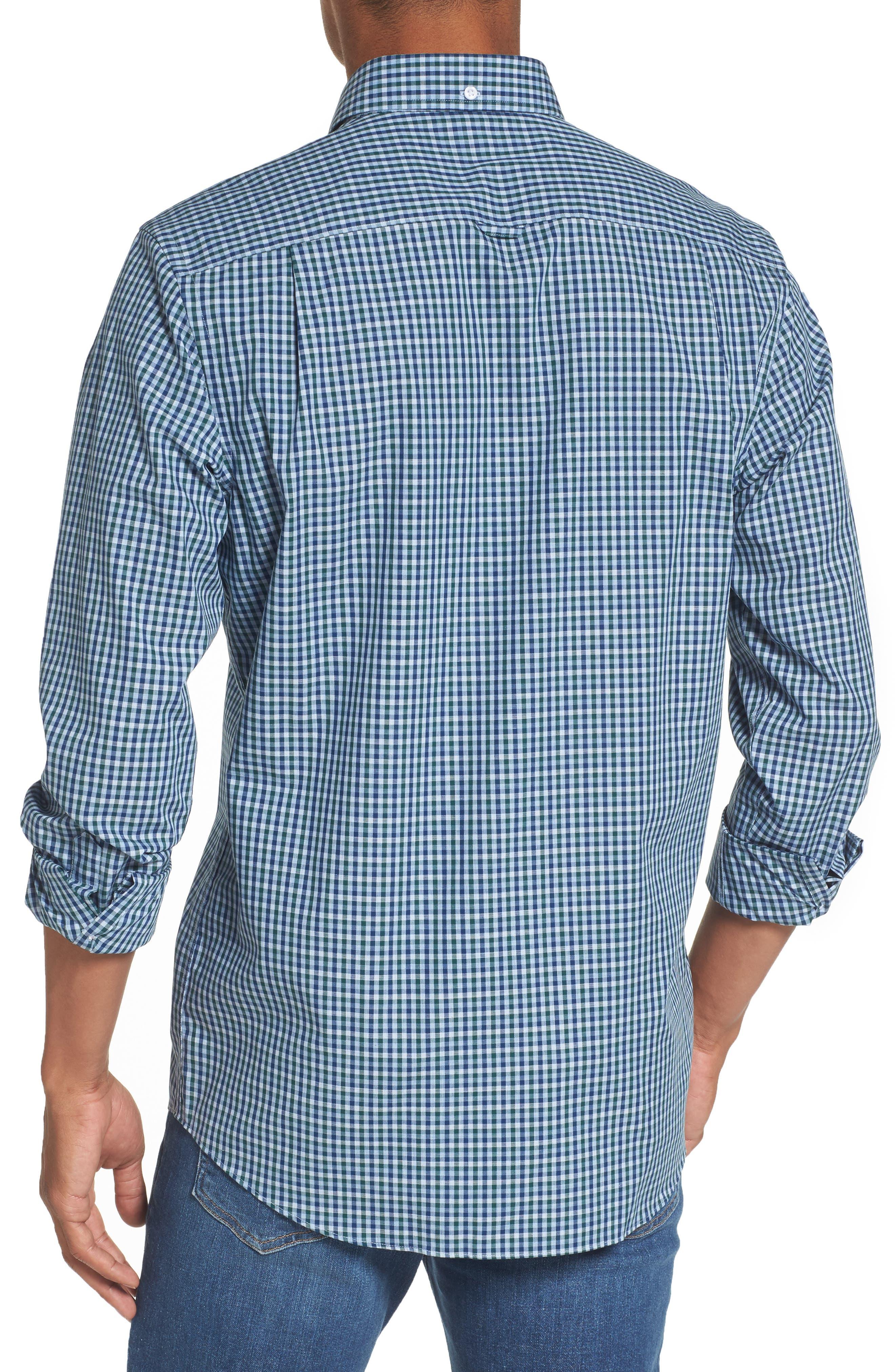 Regular Fit Non-Iron Mini Check Sport Shirt,                             Alternate thumbnail 2, color,                             310