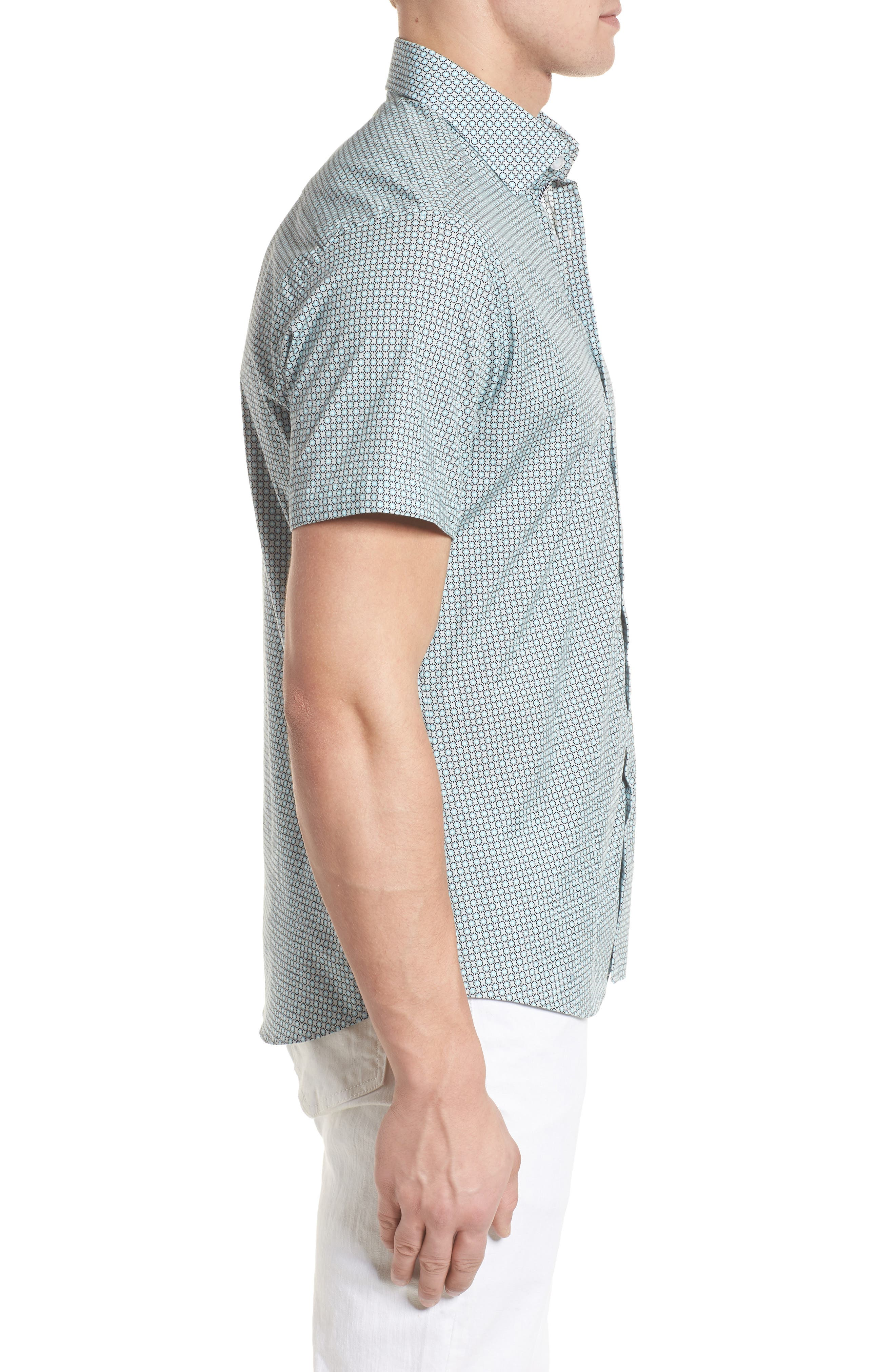 Woven Sport Shirt,                             Alternate thumbnail 3, color,                             020