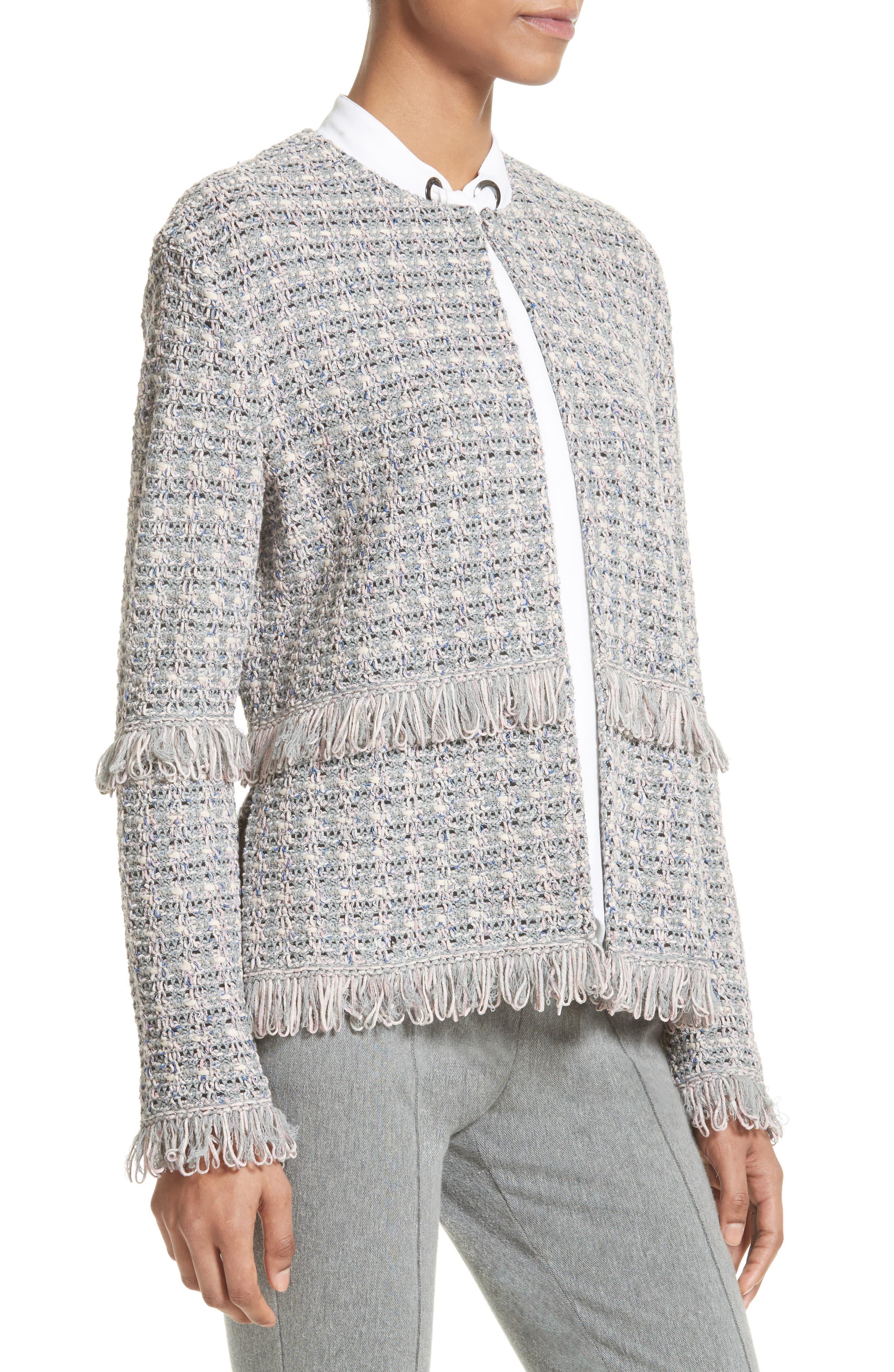 Textural Powder Tweed Jacket,                             Alternate thumbnail 5, color,                             020