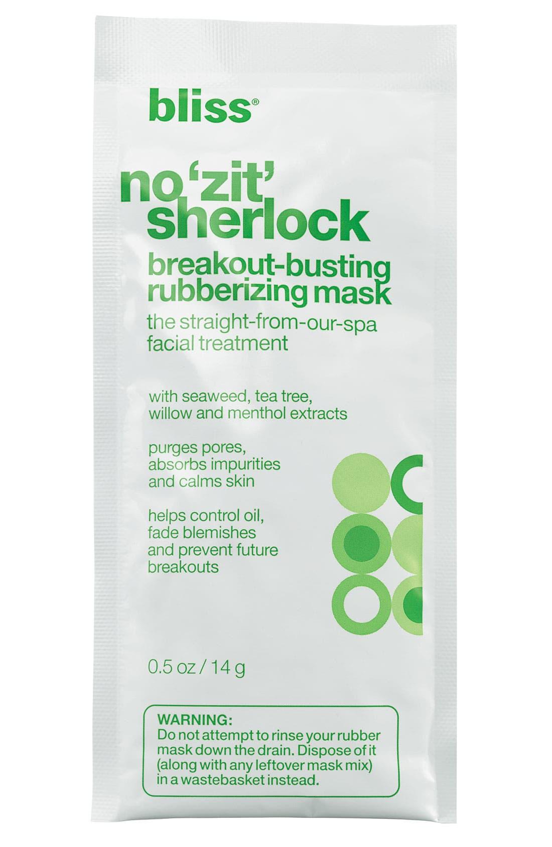 'No Zit Sherlock' Breakout-Busting Rubberizing Mask, Main, color, 000