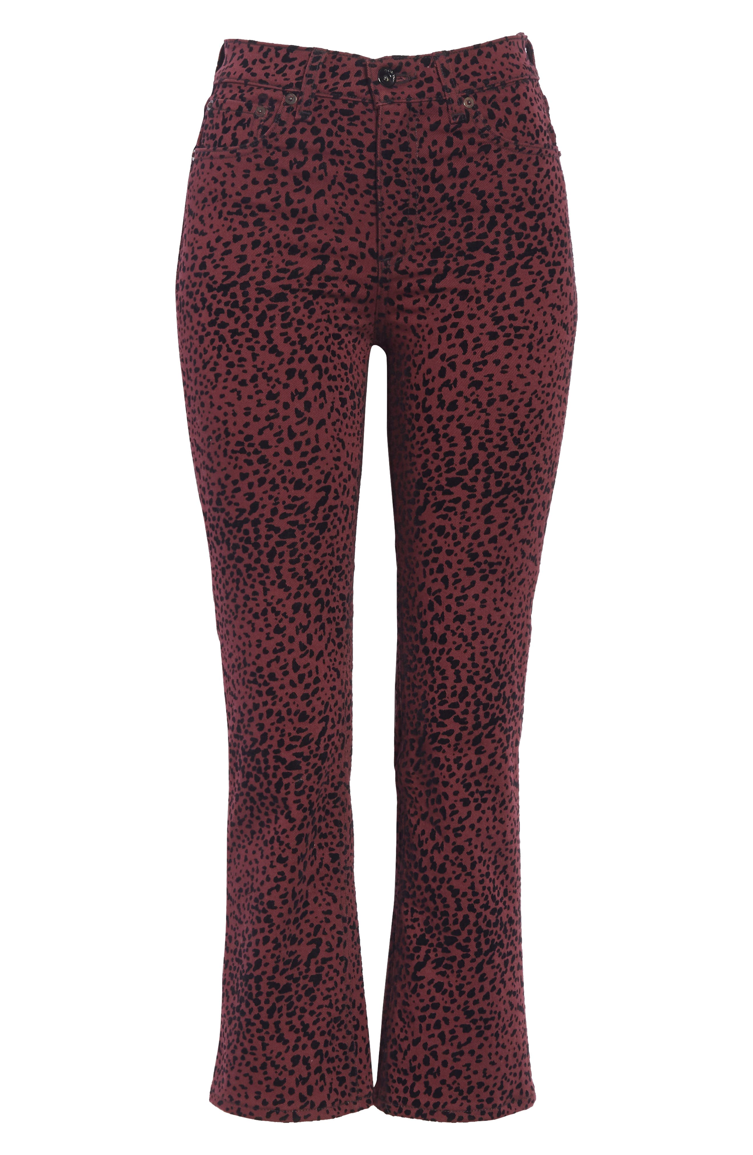 Hana High Waist Crop Flare Jeans,                             Alternate thumbnail 6, color,                             930