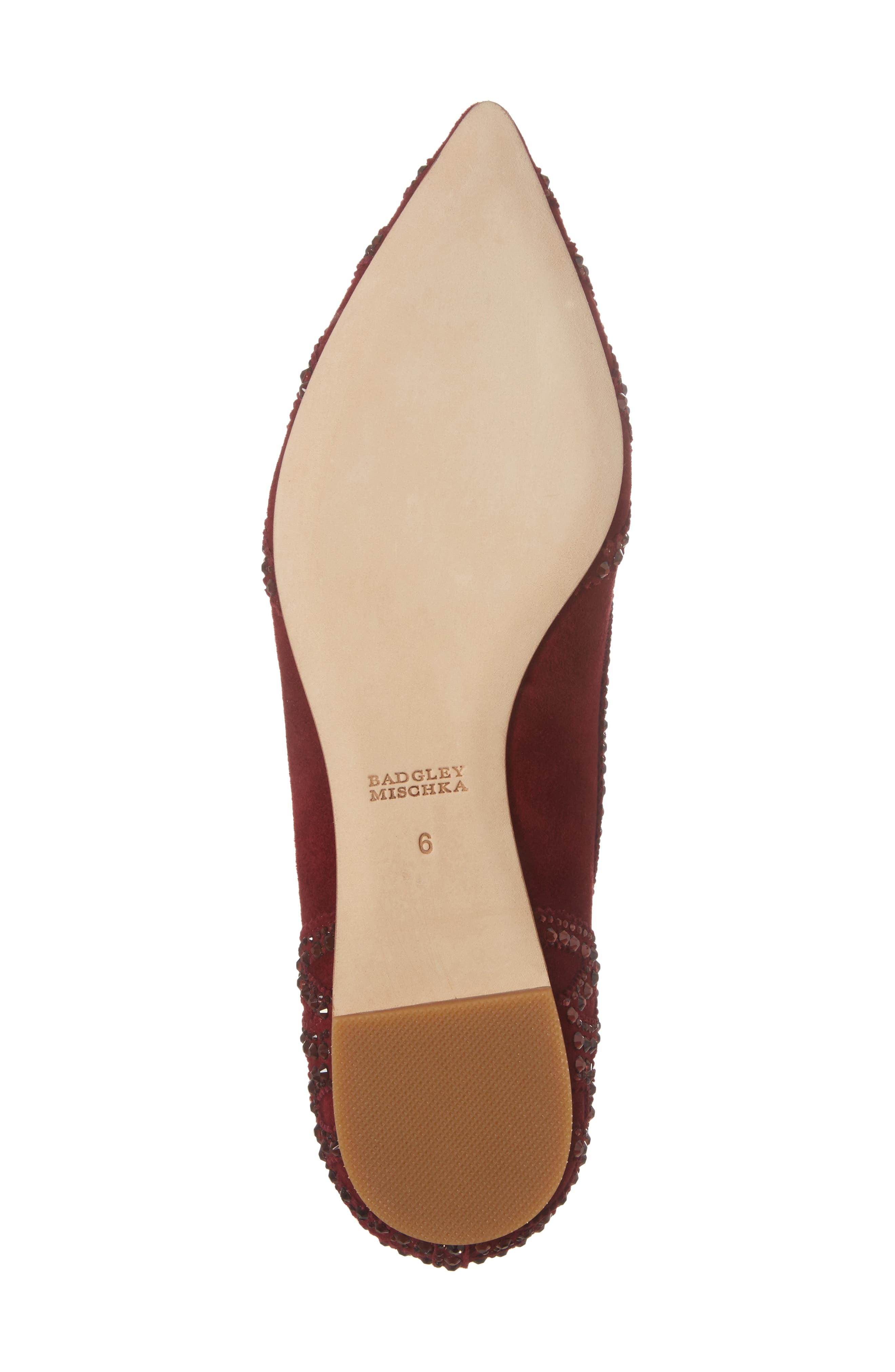 Gigi Crystal Pointy Toe Flat,                             Alternate thumbnail 30, color,