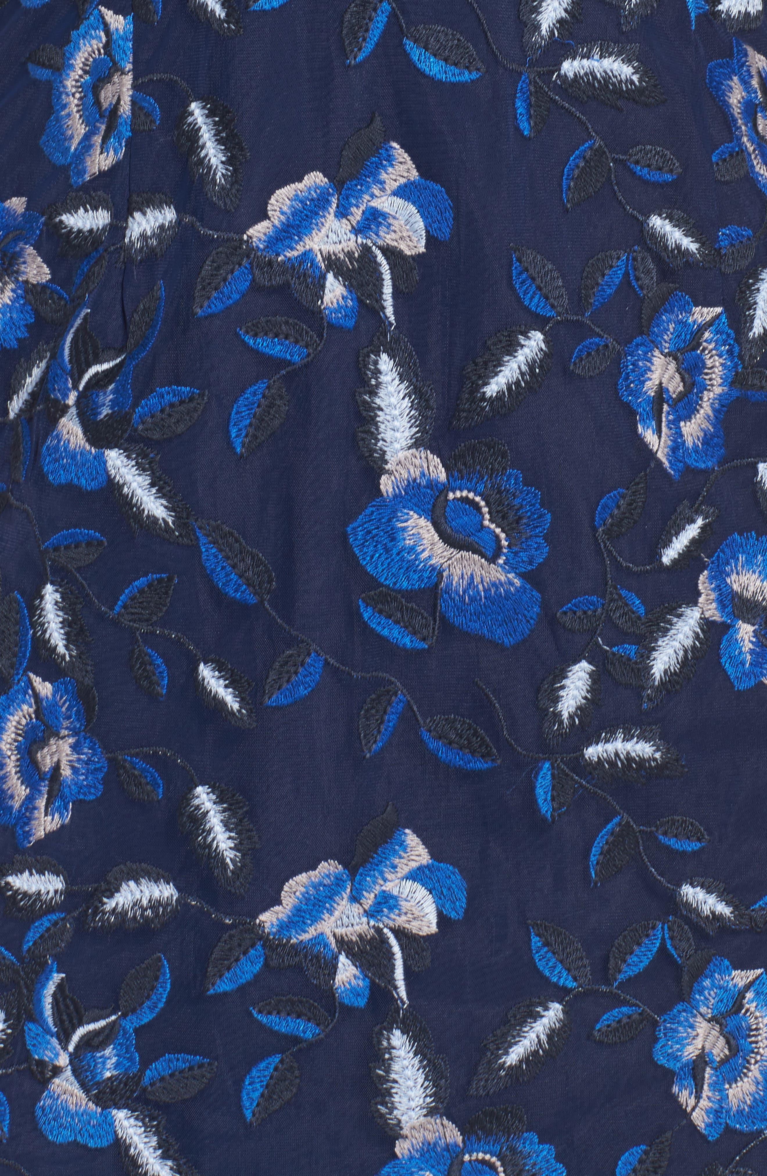 Sapphire Lace Pencil Dress,                             Alternate thumbnail 5, color,                             471