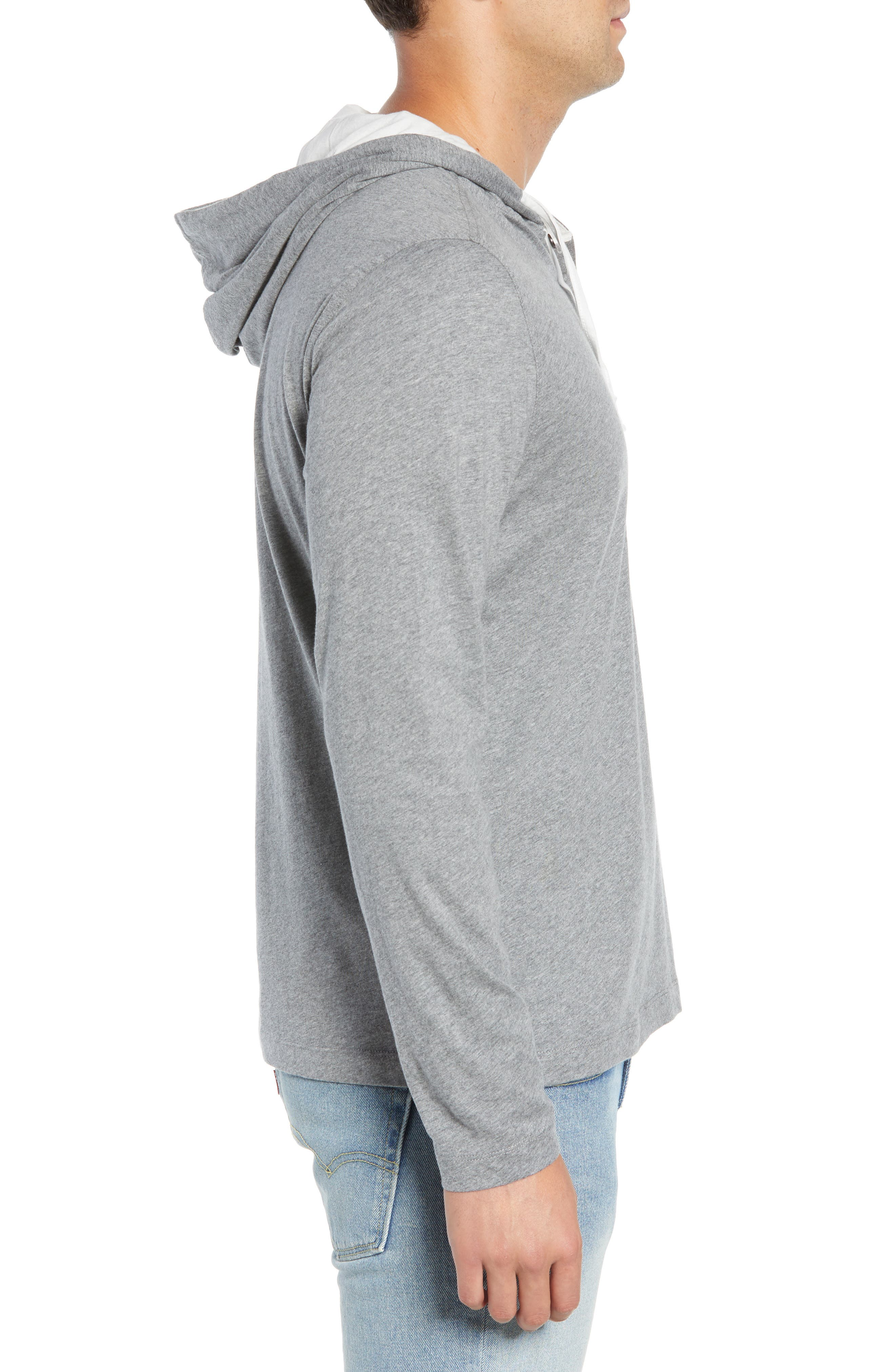 Carl Pullover Hoodie,                             Alternate thumbnail 3, color,                             MID GREY
