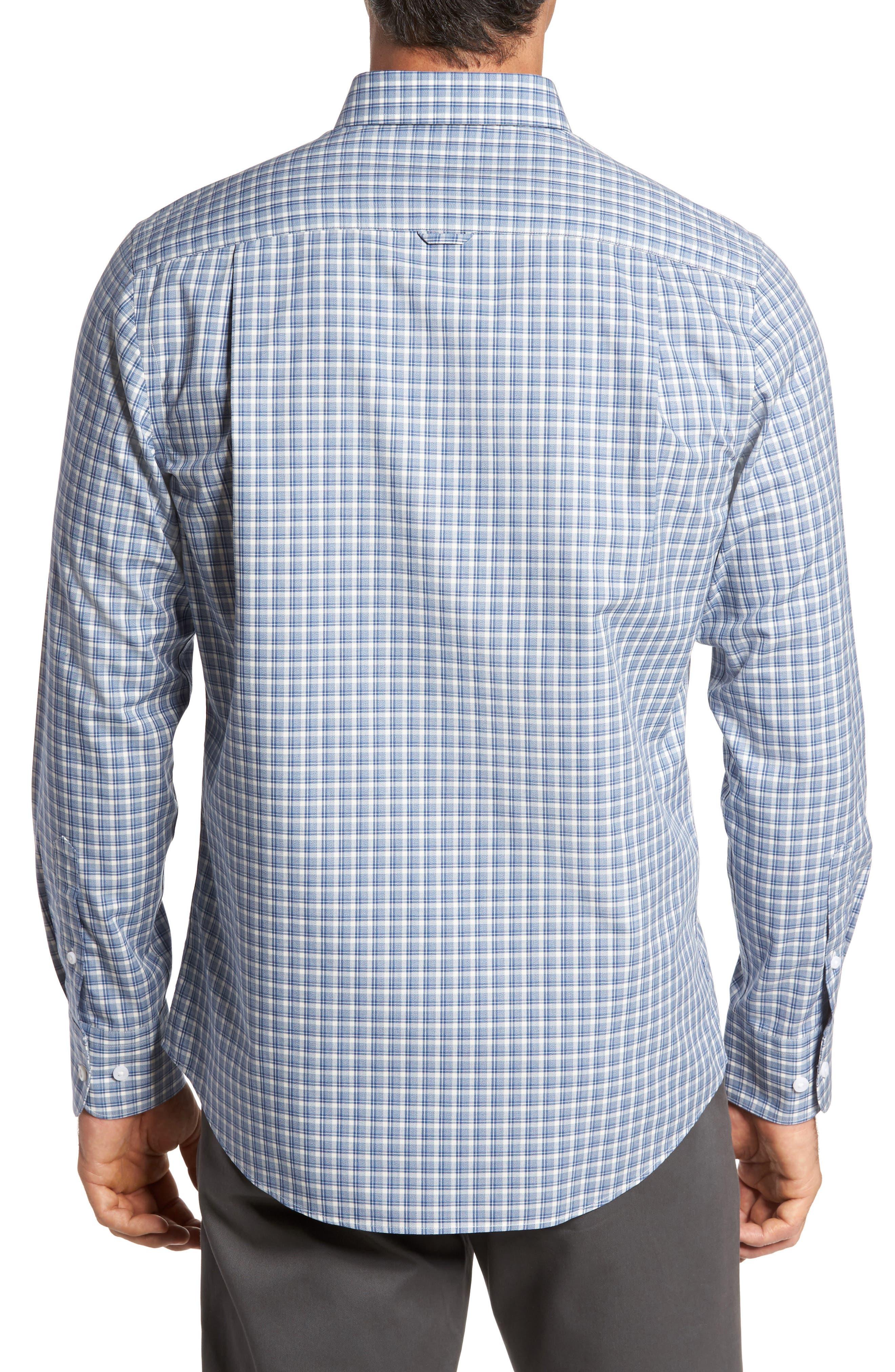 Smartcare<sup>™</sup> Regular Fit Plaid Sport Shirt,                             Alternate thumbnail 14, color,