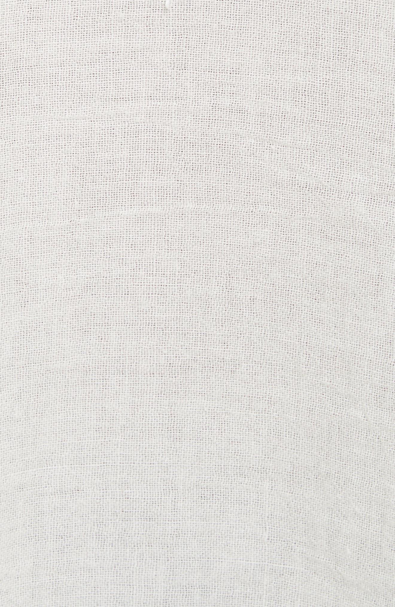Fiona Ruffle Cotton Eyelet Top,                             Alternate thumbnail 5, color,                             100