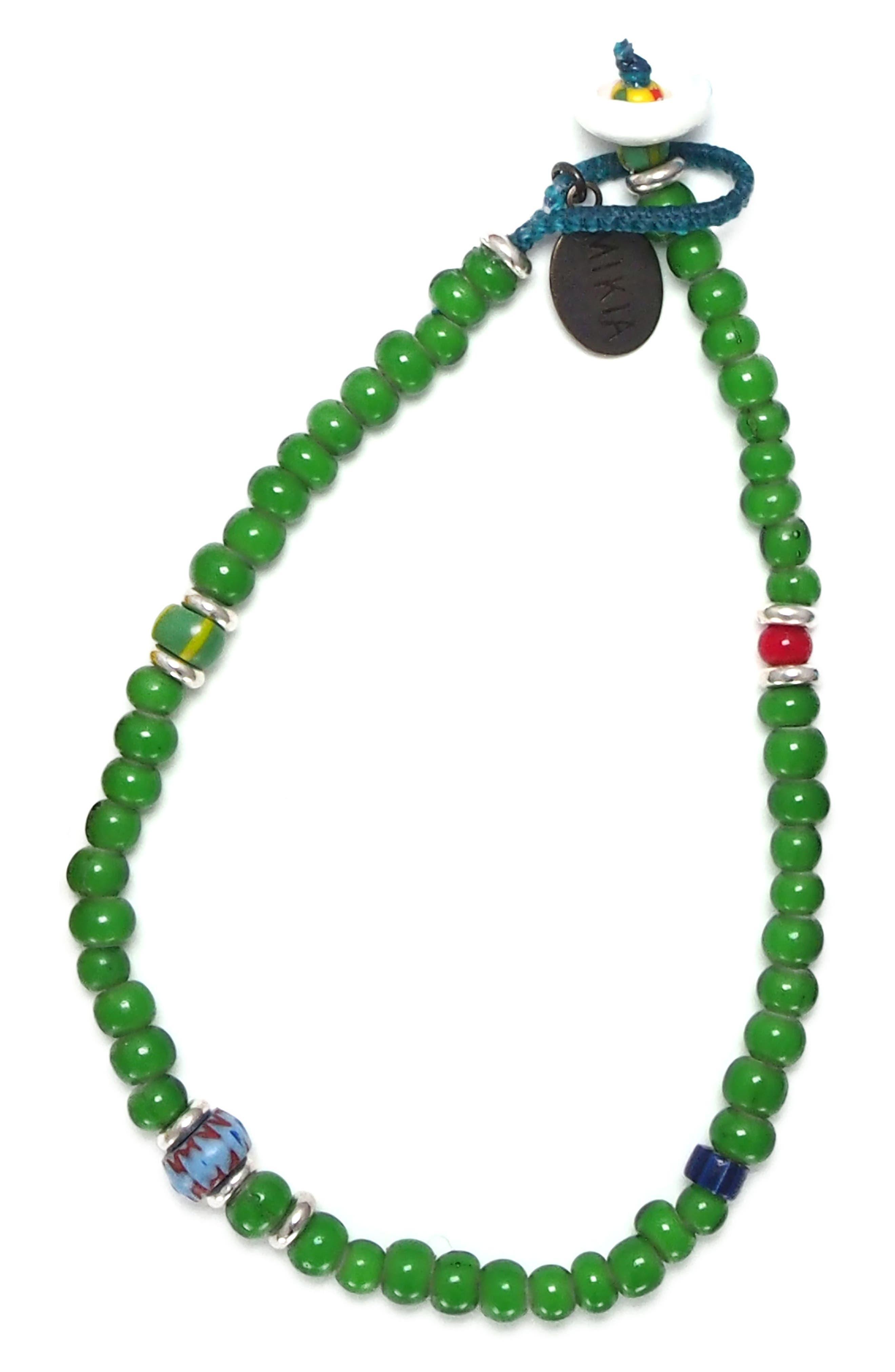 White Hearts Bead Bracelet,                             Main thumbnail 1, color,                             300