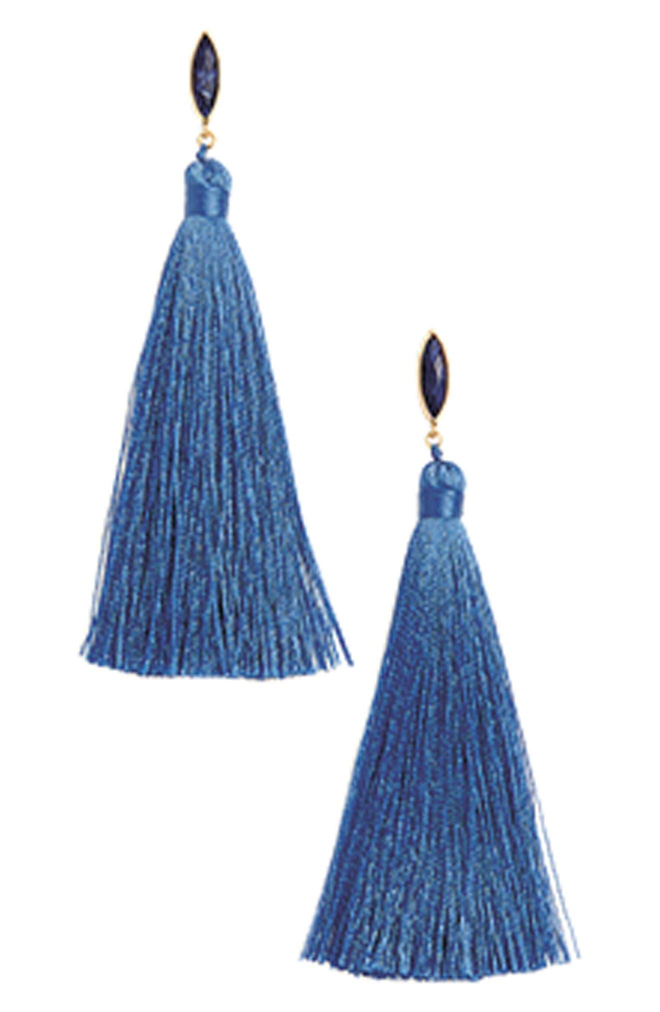 Palisades Tassel Earrings,                             Alternate thumbnail 3, color,                             100