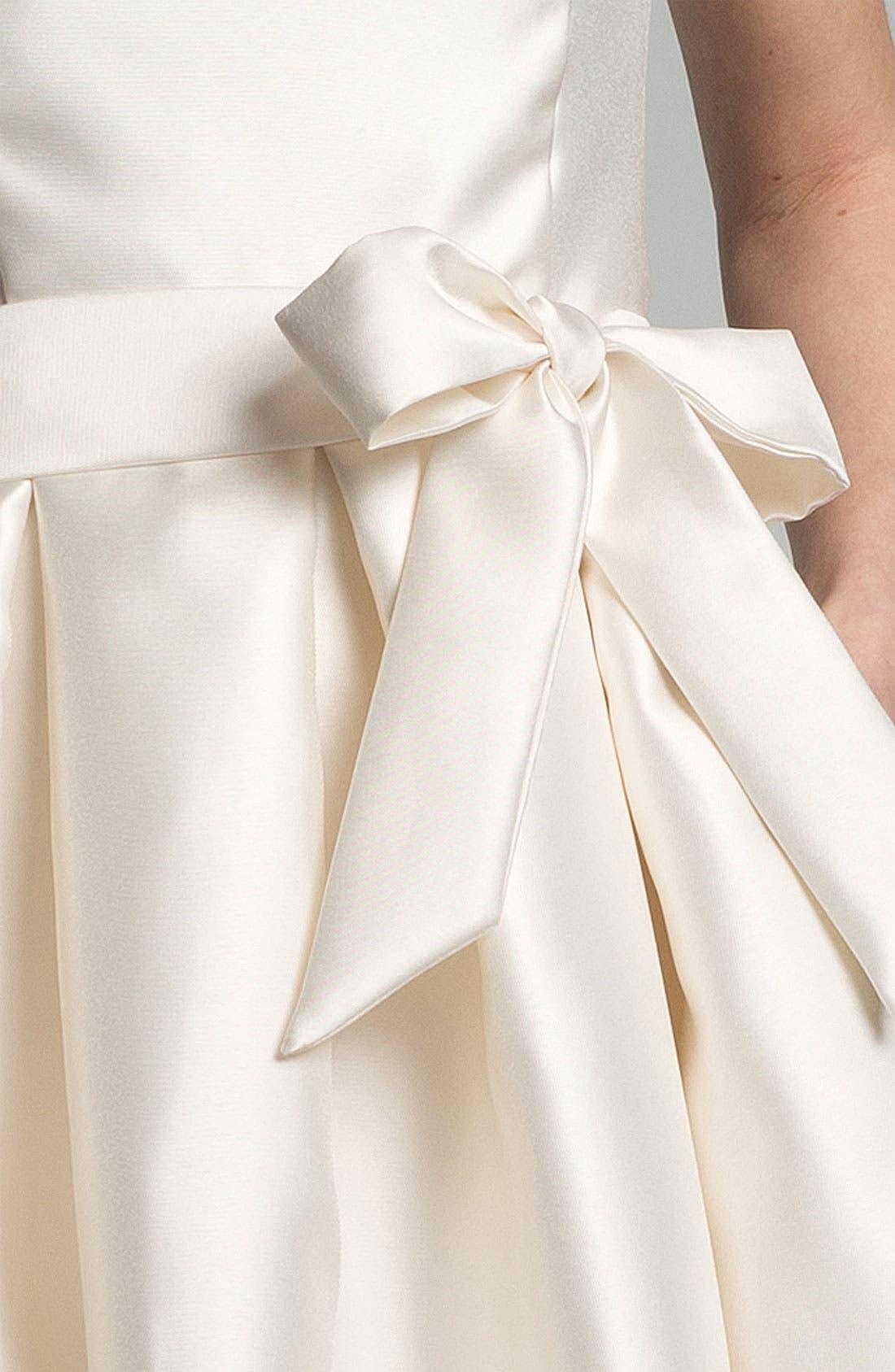 Faille Satin Fit & Flare Dress,                             Alternate thumbnail 3, color,                             900