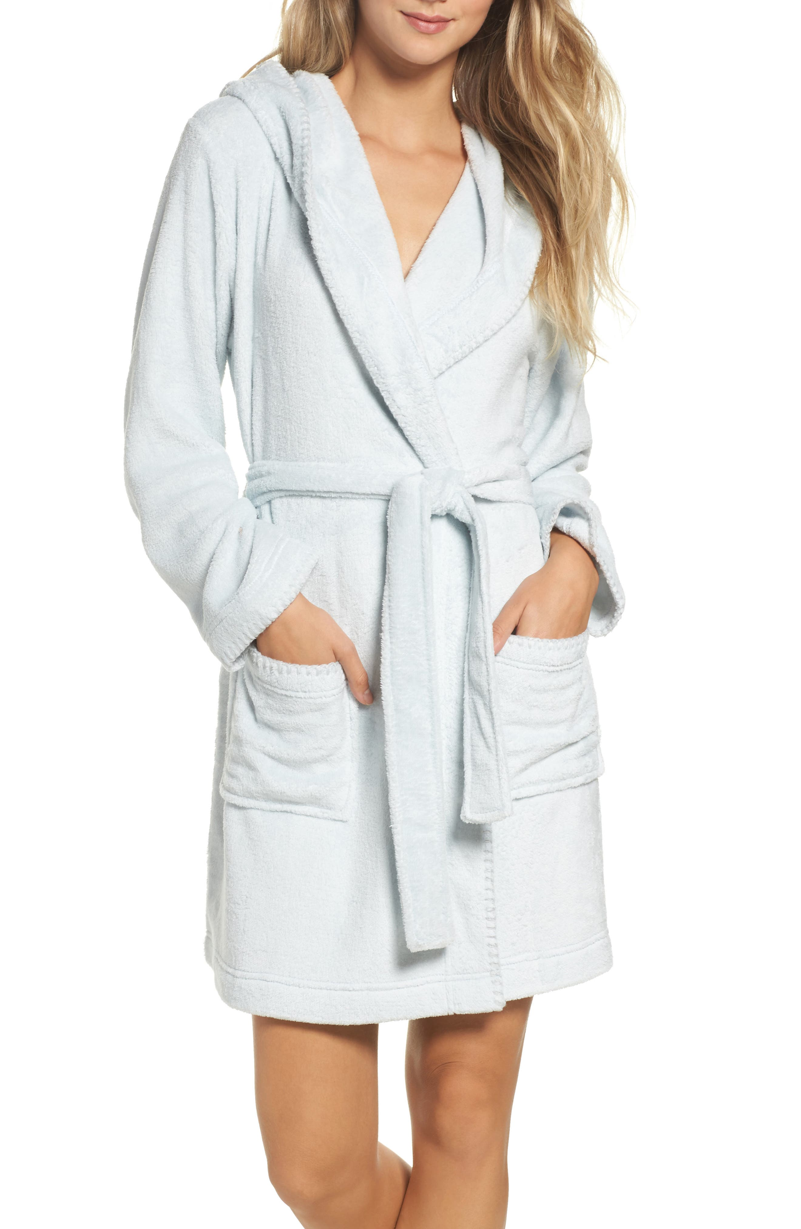 Starry Night Plush Short Robe,                             Main thumbnail 2, color,