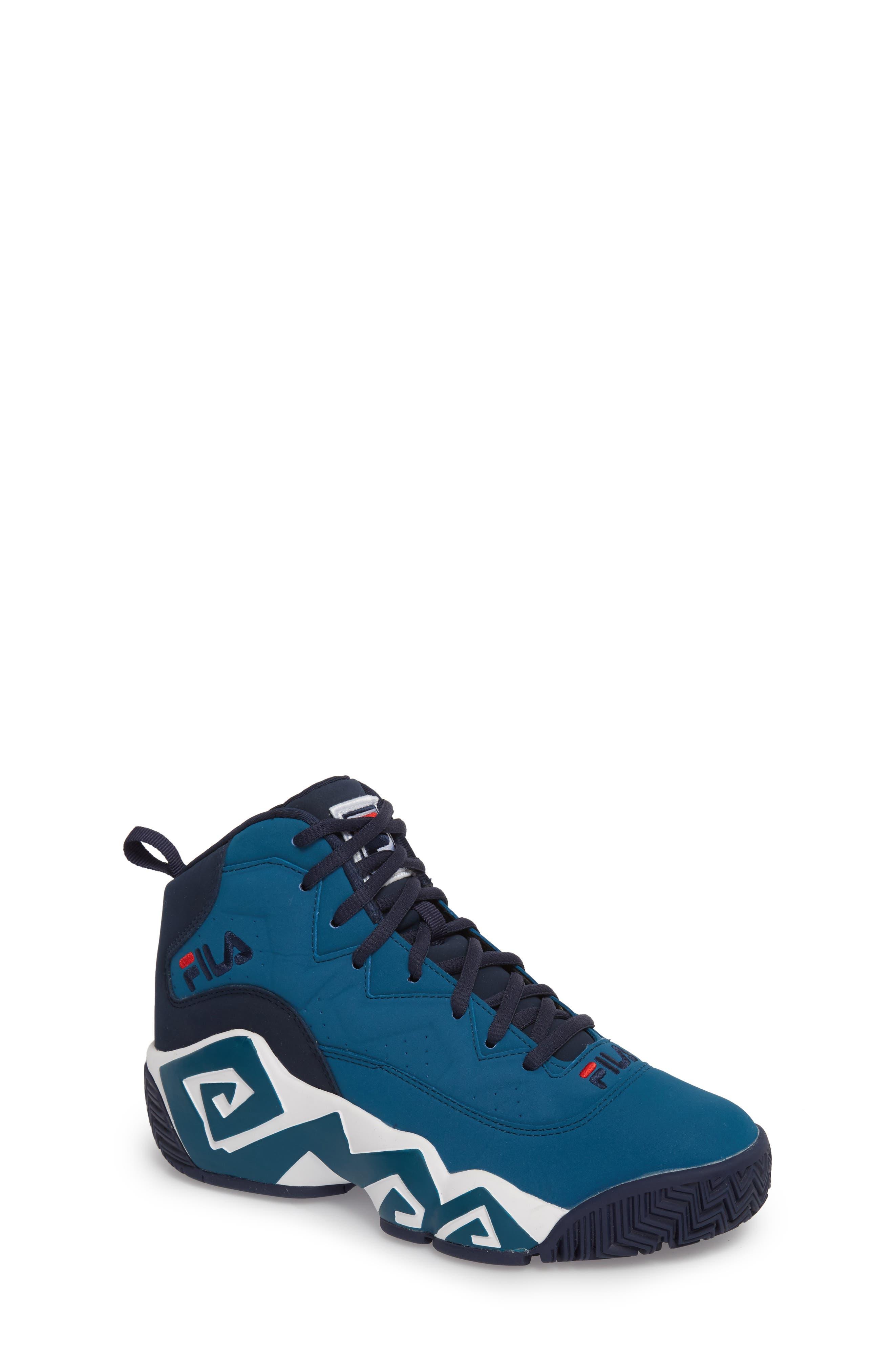 MB High Top Sneaker,                         Main,                         color, INK BLUE/ FILA NAVY