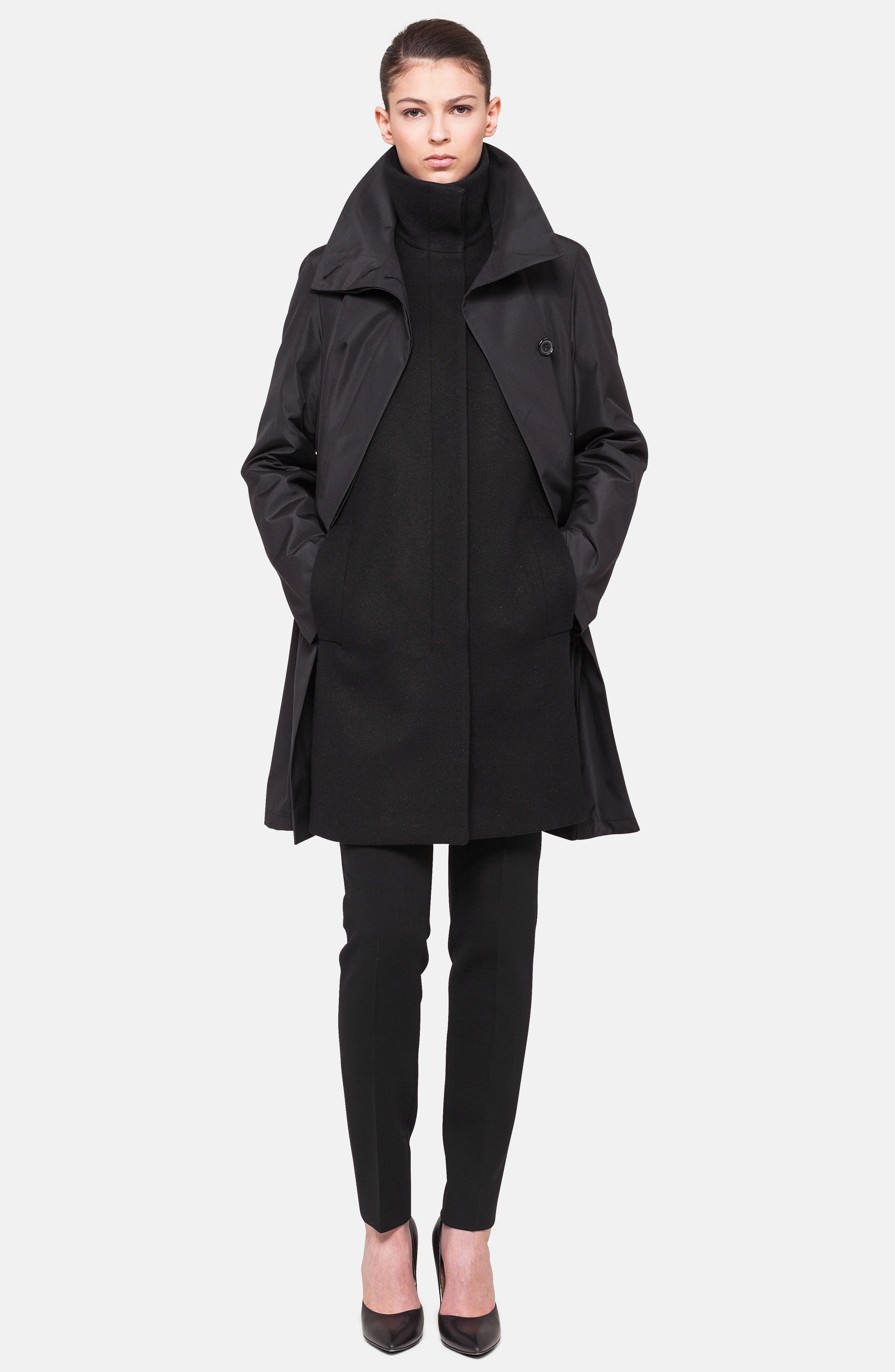 3-in-1 Technical Coat,                             Alternate thumbnail 2, color,                             BLACK