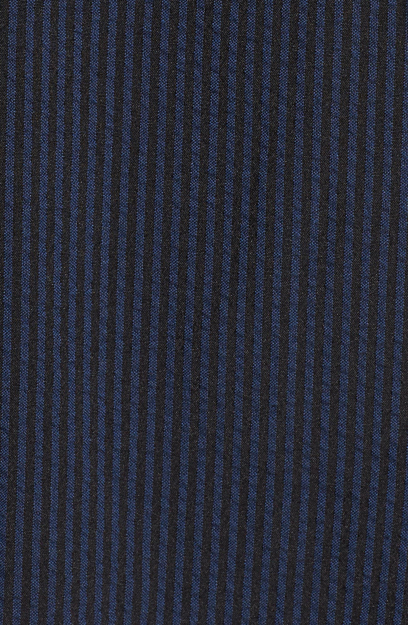 Seersucker Fit & Flare Dress,                             Alternate thumbnail 6, color,                             400