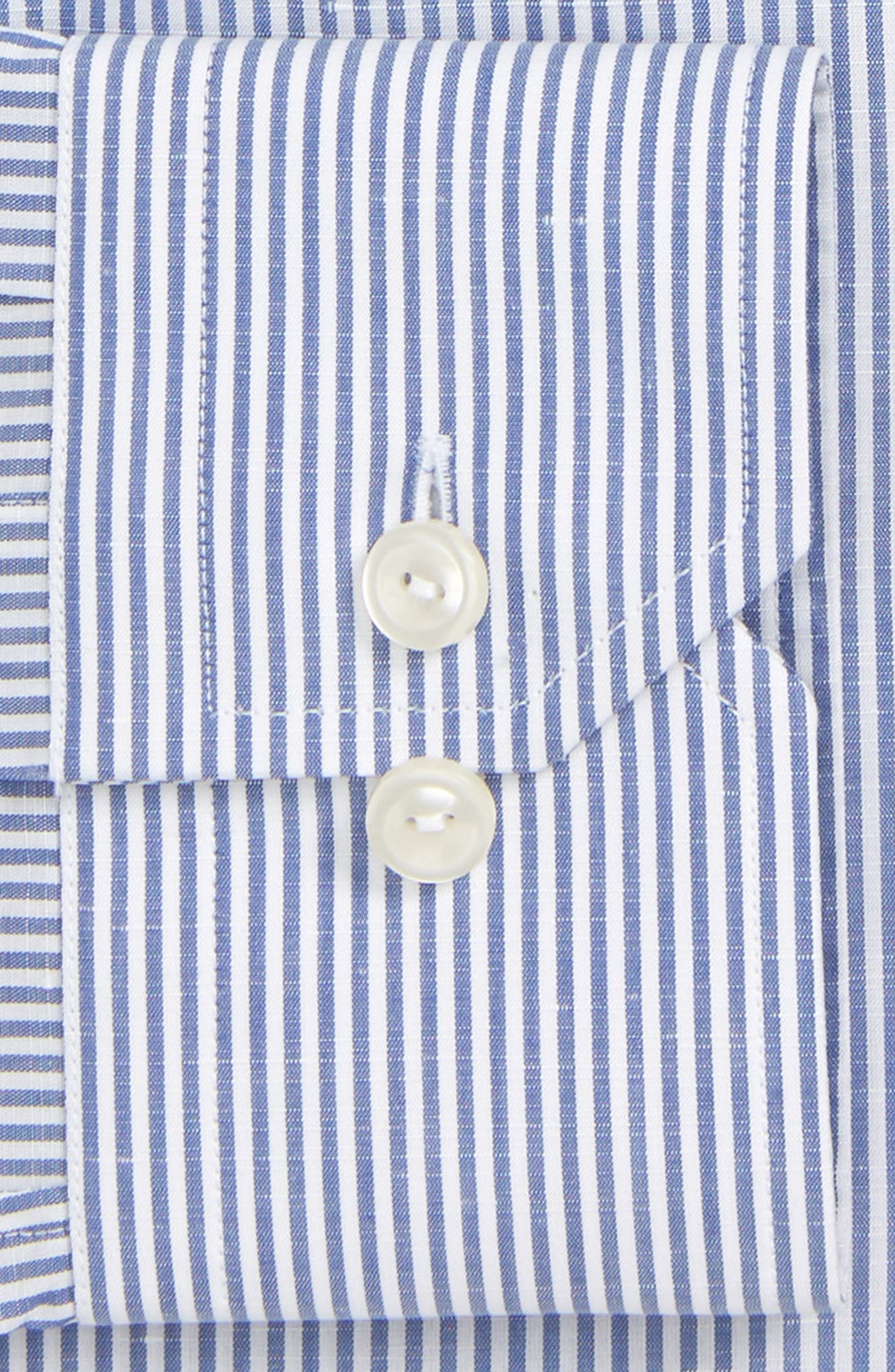Slim Fit Stripe Dress Shirt,                             Alternate thumbnail 6, color,