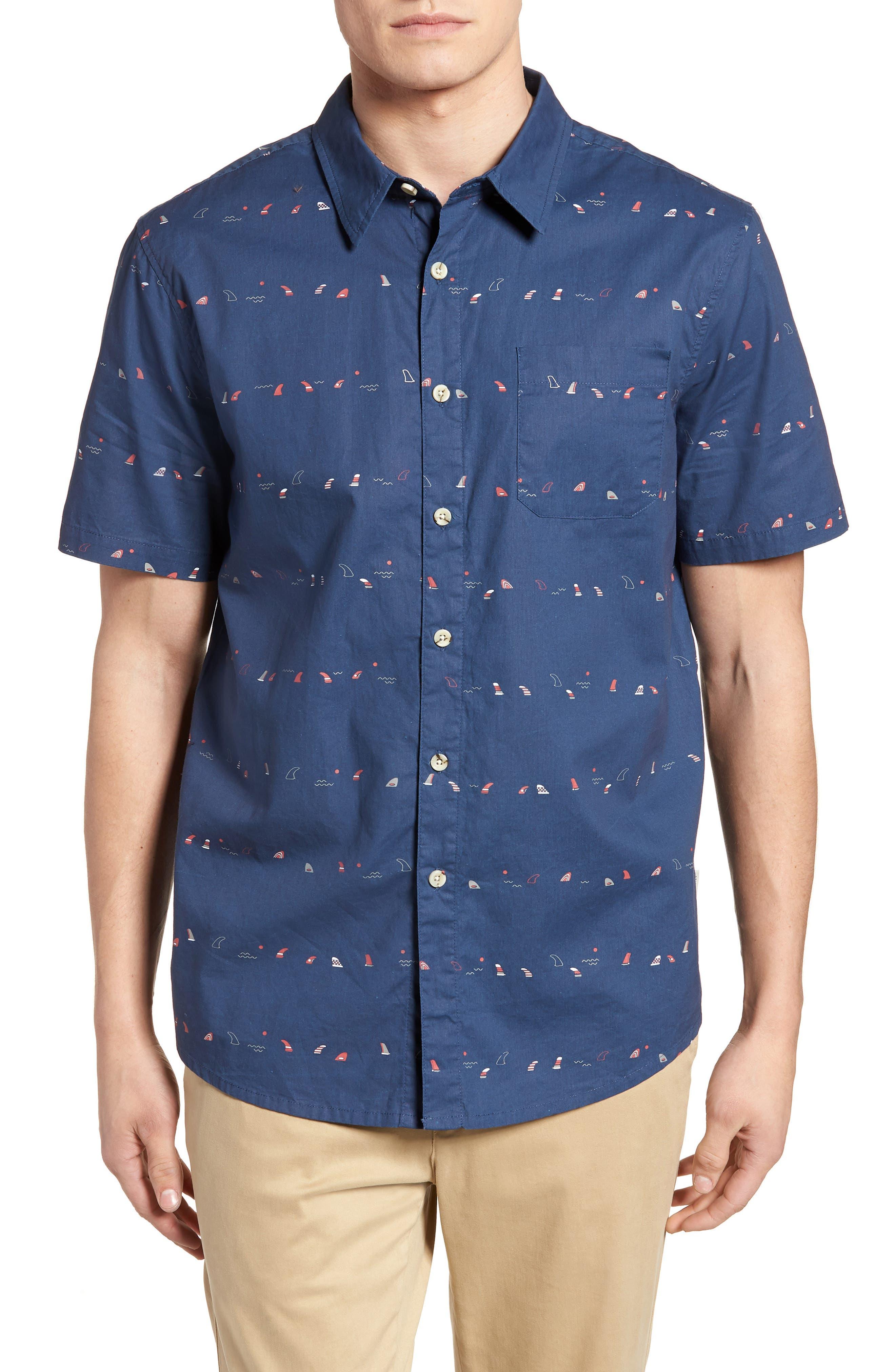 Single Fin Regular Fit Short Sleeve Sport Shirt,                             Main thumbnail 2, color,