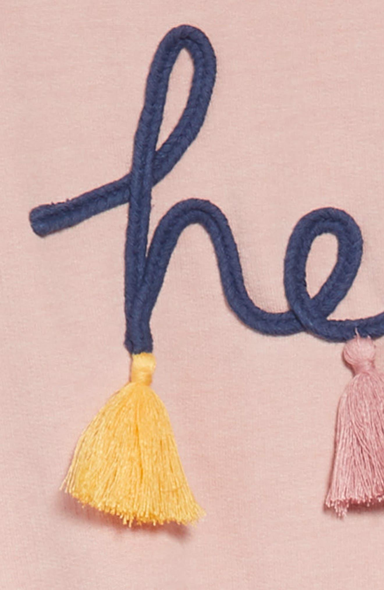 Hello Tassel Dress,                             Alternate thumbnail 3, color,                             PINK