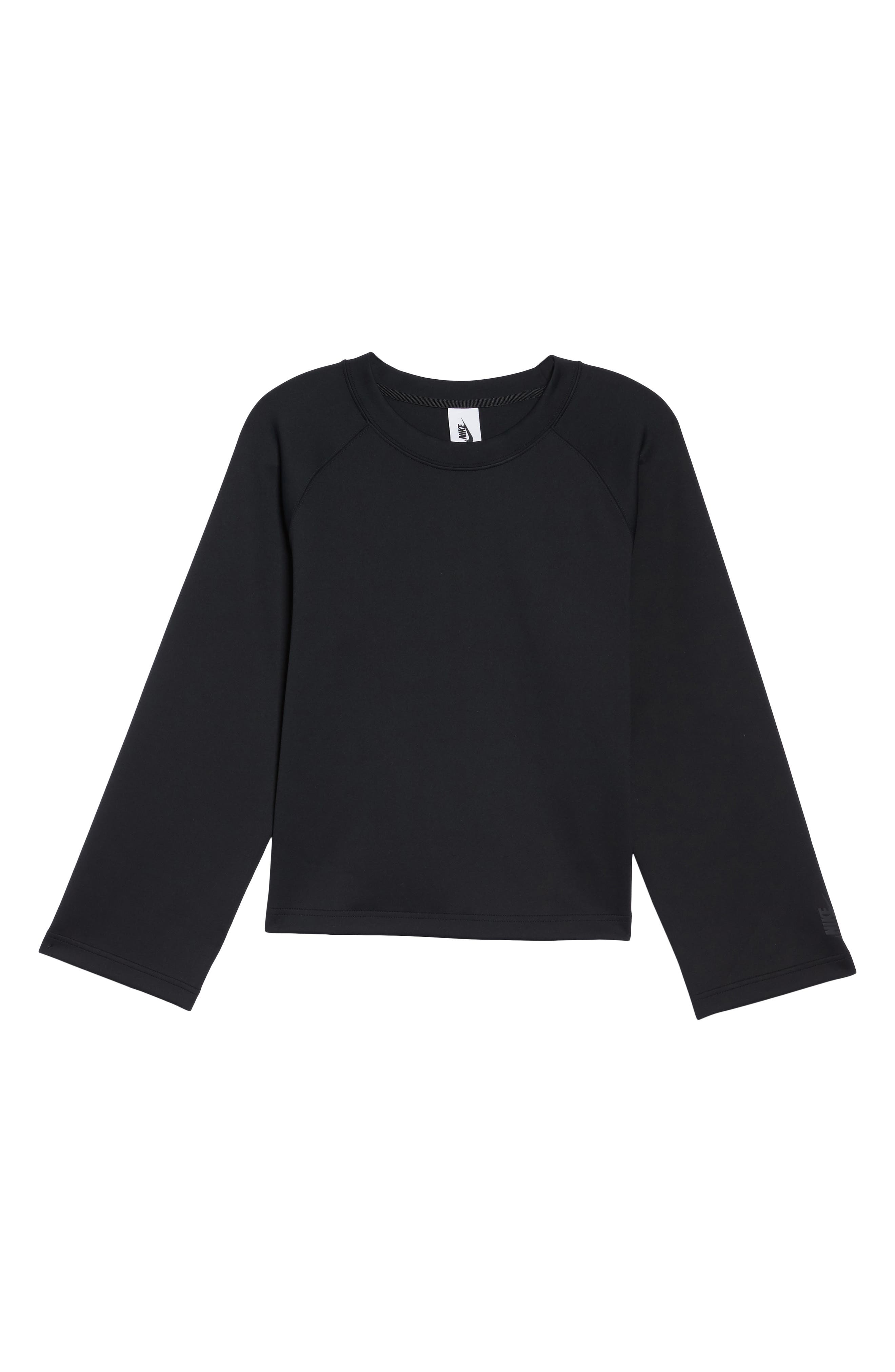 NikeLab Essentials Women's Fleece Top,                             Alternate thumbnail 7, color,                             010