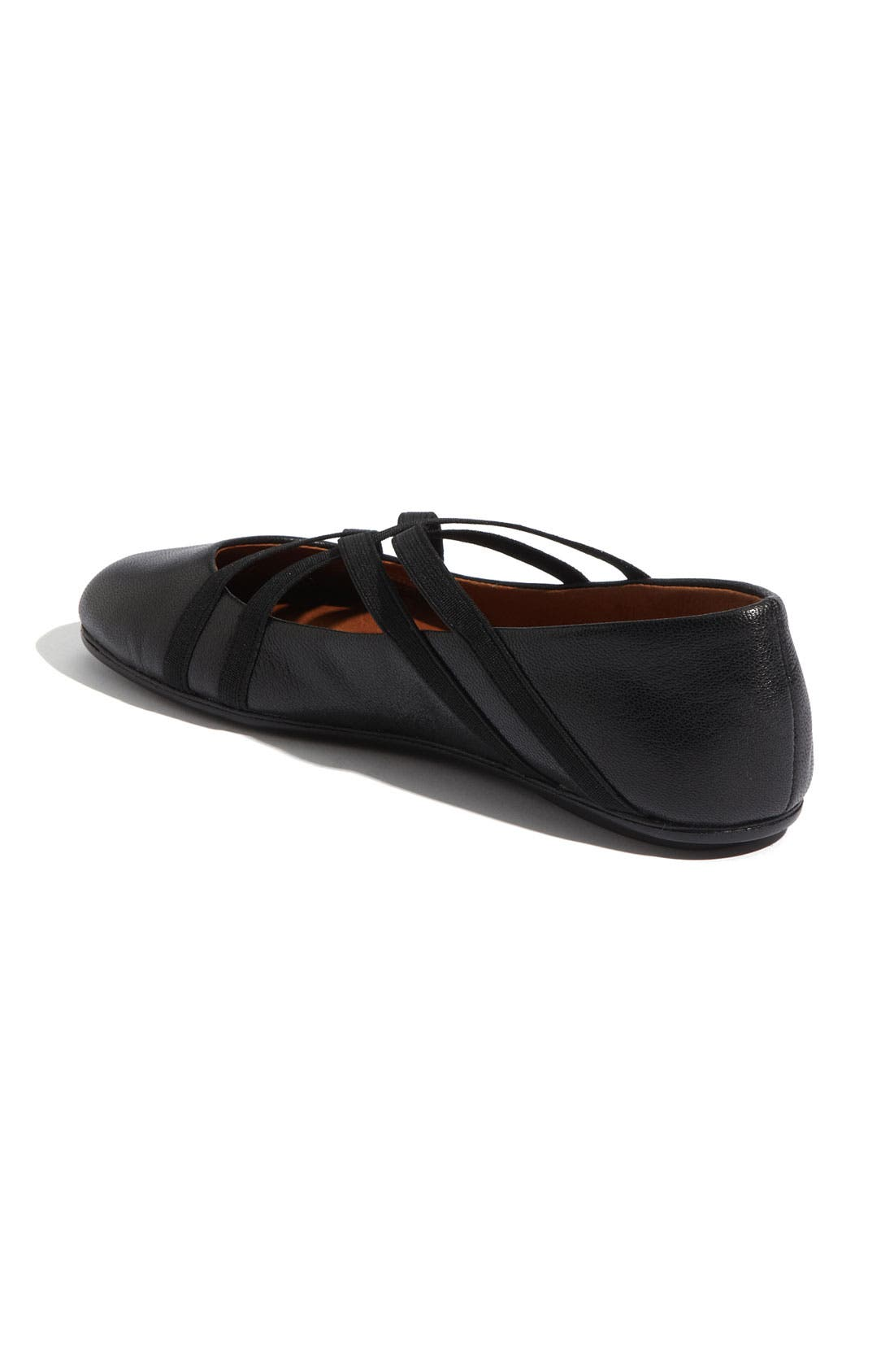 by Kenneth Cole 'Bay Braid' Flat,                             Alternate thumbnail 3, color,                             BLACK