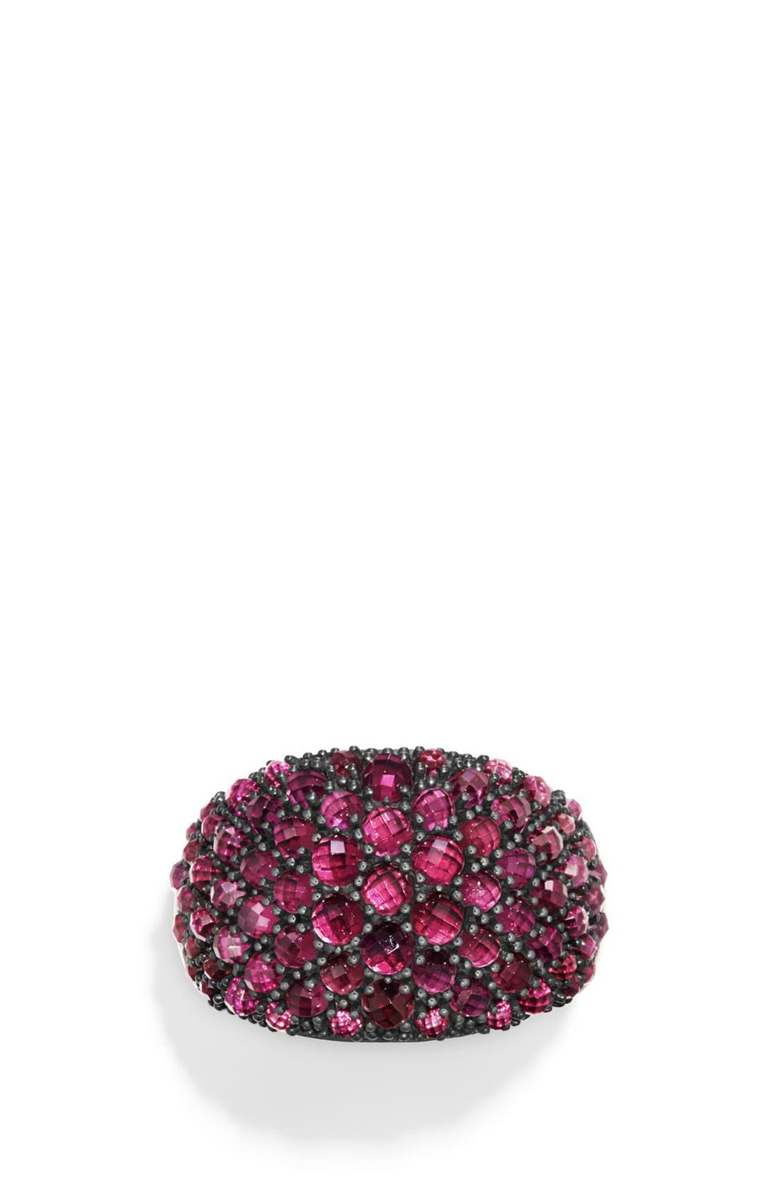 Cable Berries Dome Ring,                             Main thumbnail 1, color,                             RHODALITE