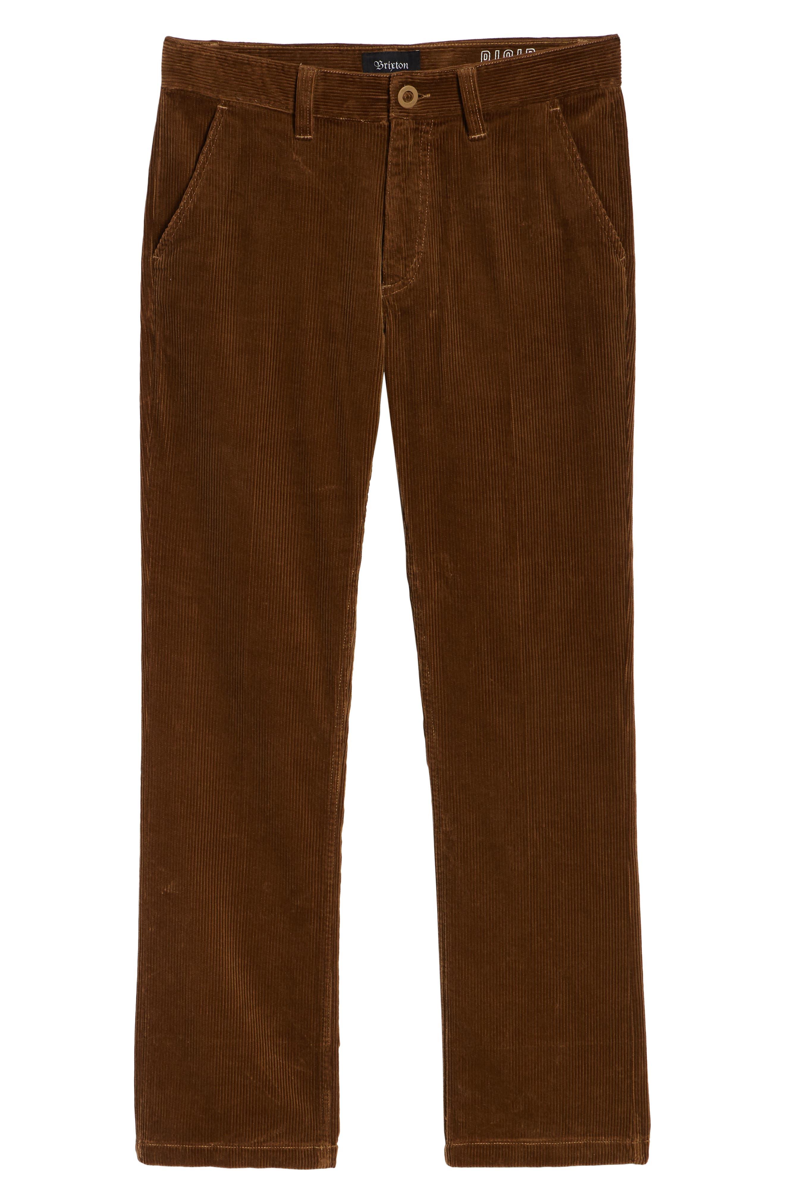 Fleet Rigid Chino Corduroy Pants,                             Alternate thumbnail 6, color,                             SIERRA