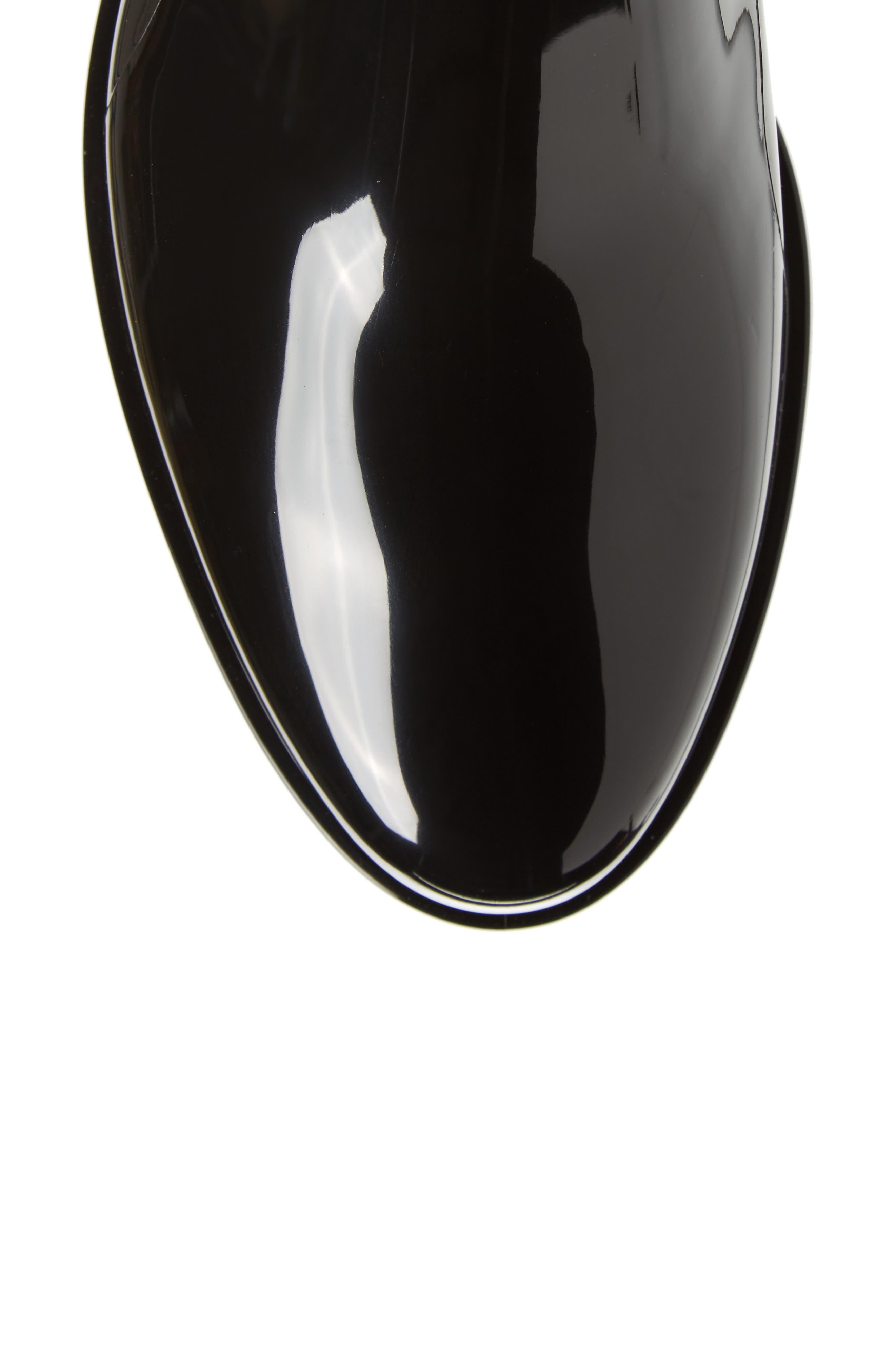Pisa Waterproof Chelsea Boot,                             Alternate thumbnail 5, color,                             BLACK GLOSS