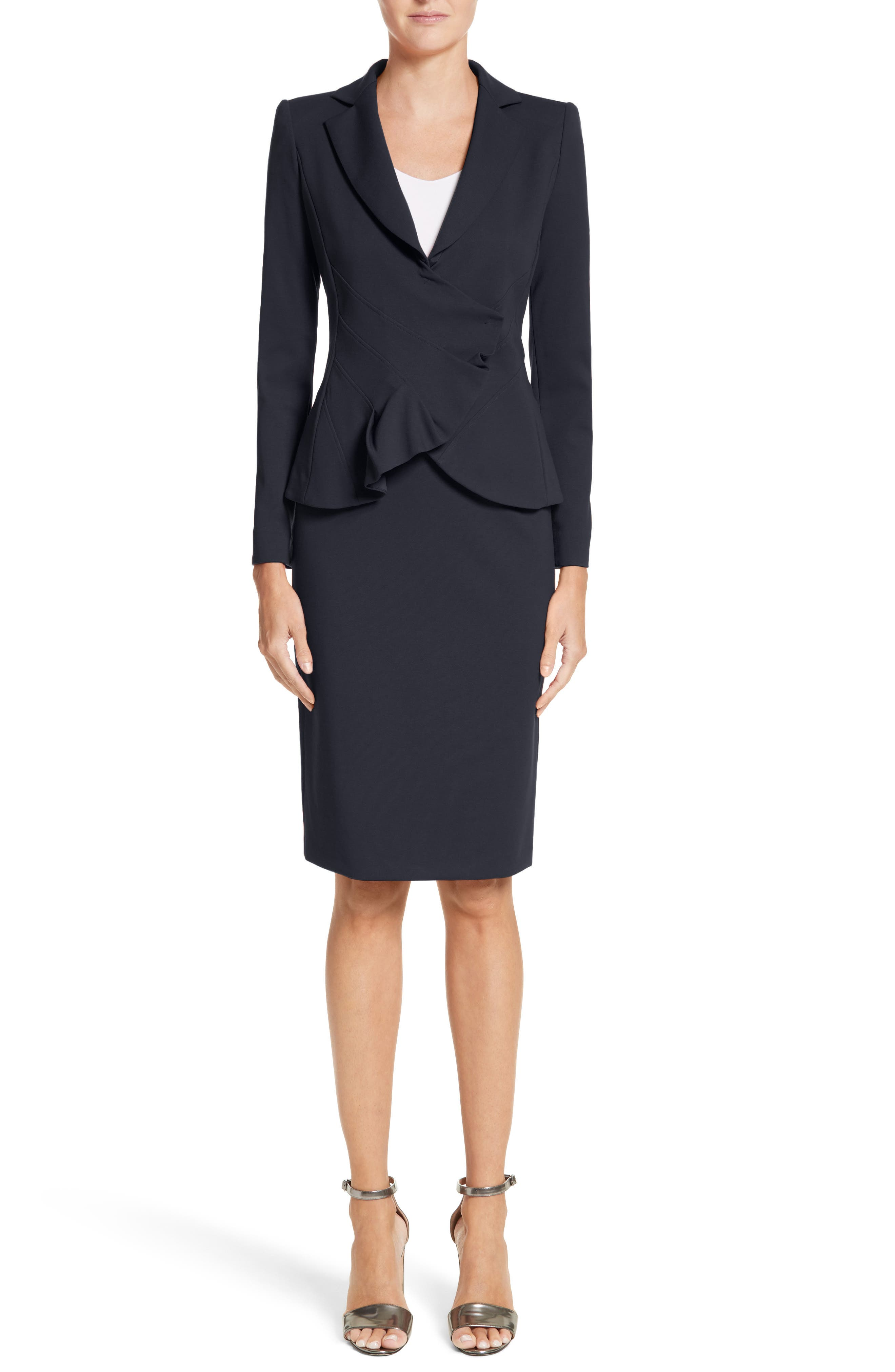 Milano Jersey Pencil Skirt,                             Alternate thumbnail 7, color,