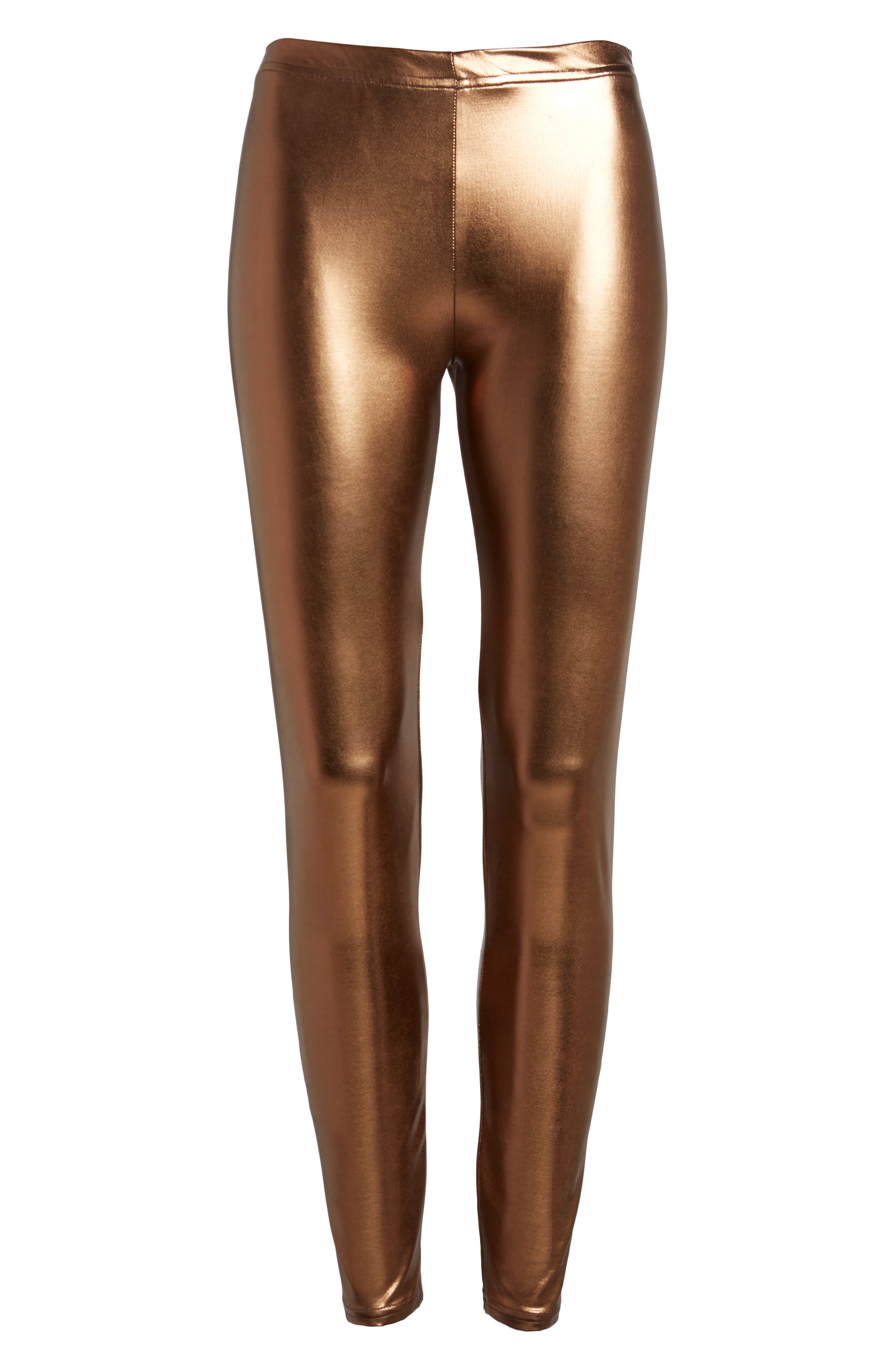 Metallic Leggings,                             Alternate thumbnail 6, color,                             220