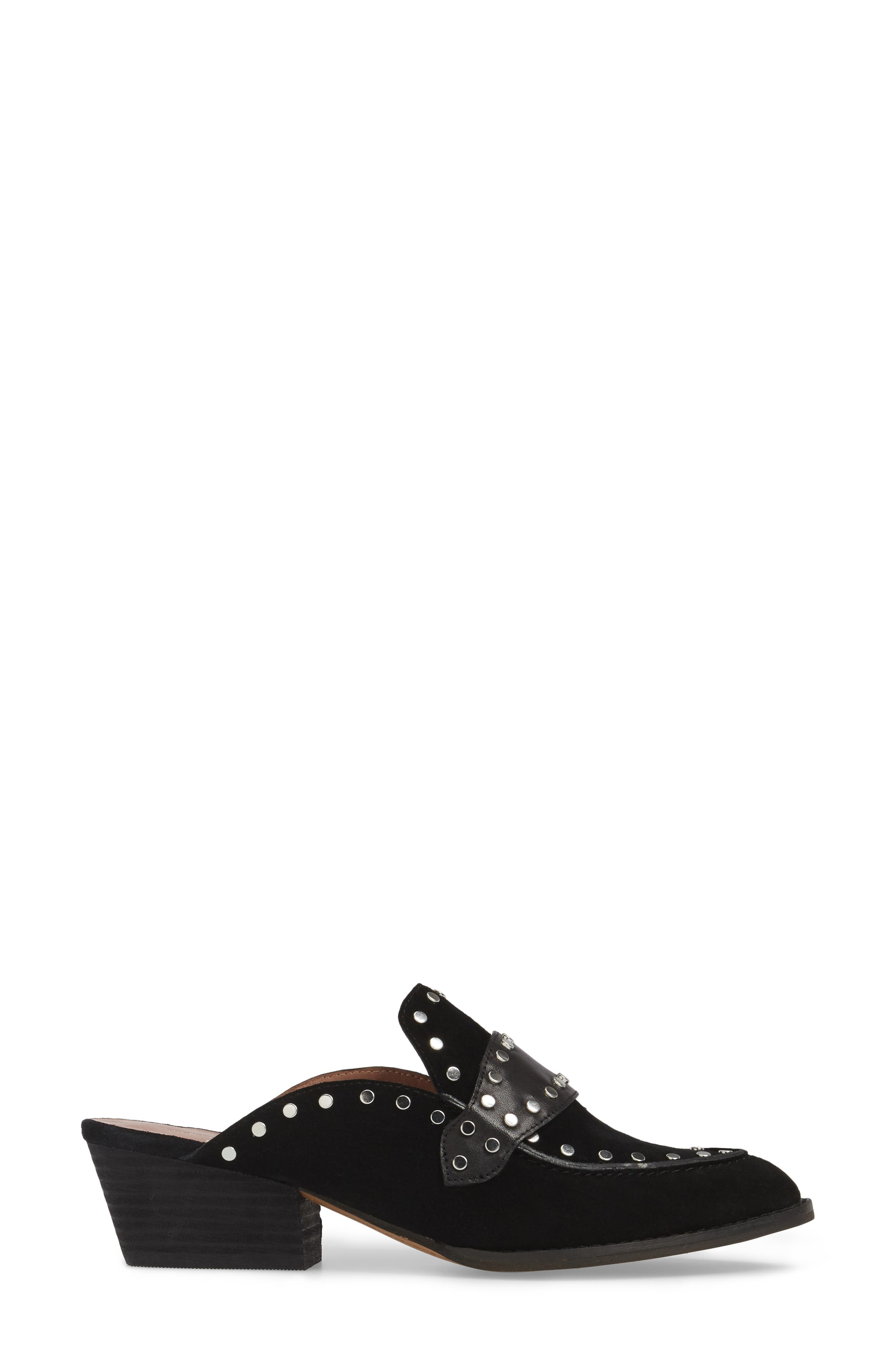 Donna Studded Mule,                             Alternate thumbnail 3, color,                             001