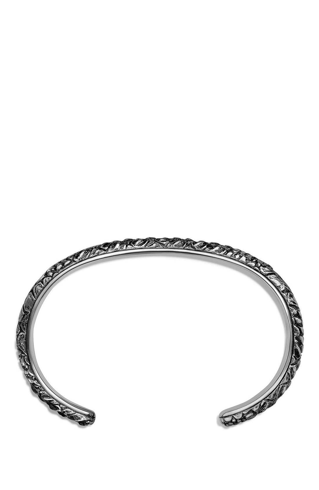 'Naturals' Gator Cuff Bracelet,                             Alternate thumbnail 2, color,                             SILVER