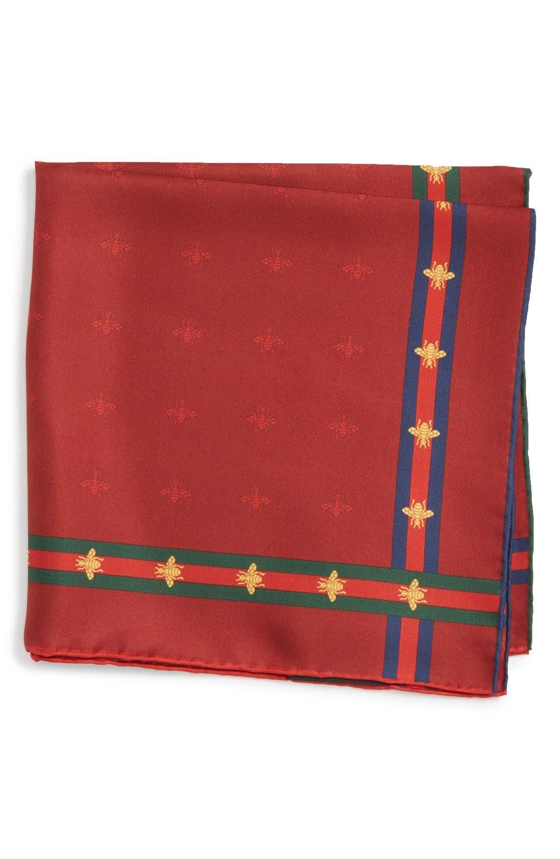 Runebis Silk Twill Pocket Square,                             Main thumbnail 4, color,