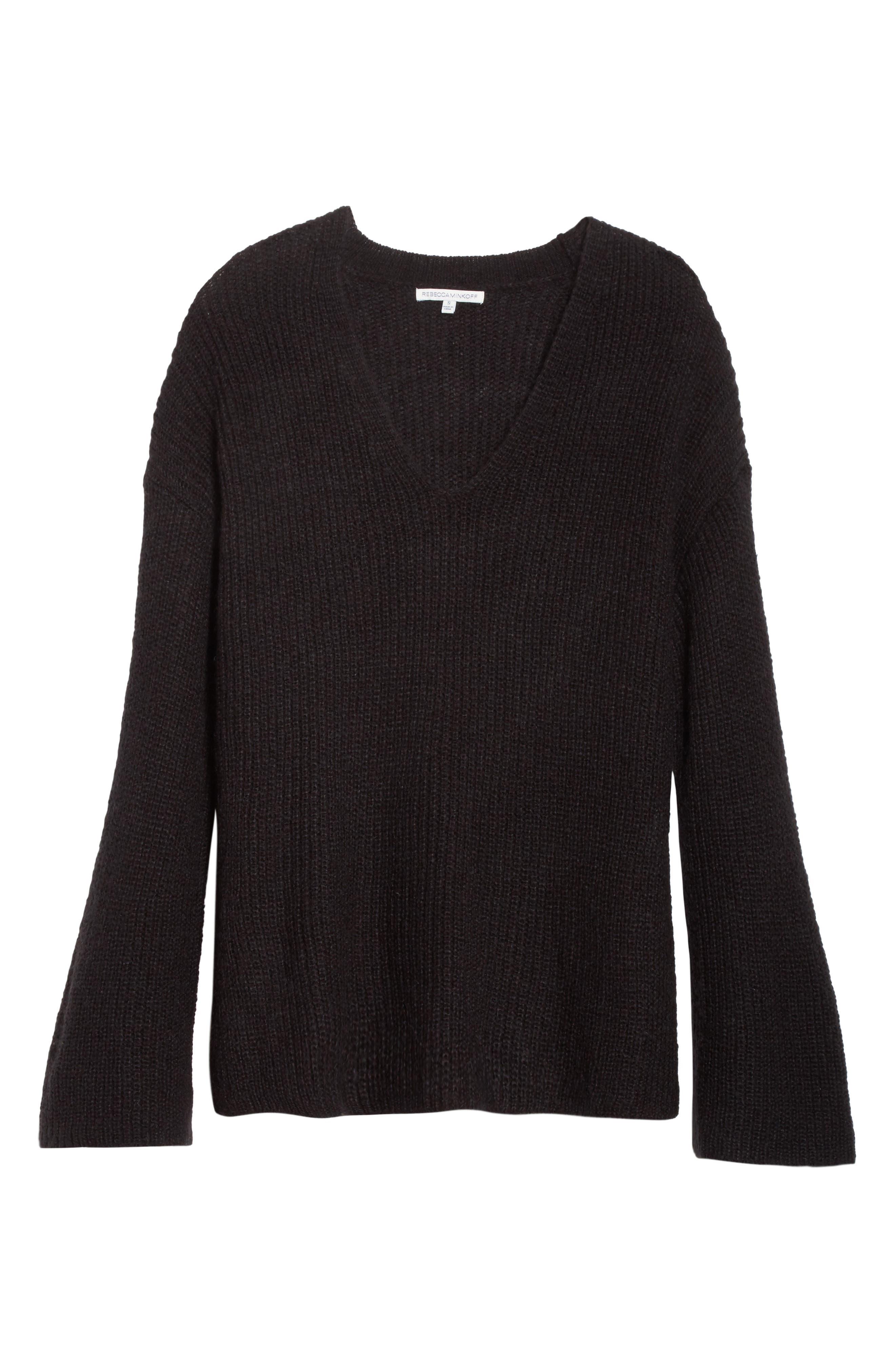 Remi Oversize Sweater,                             Alternate thumbnail 6, color,                             001