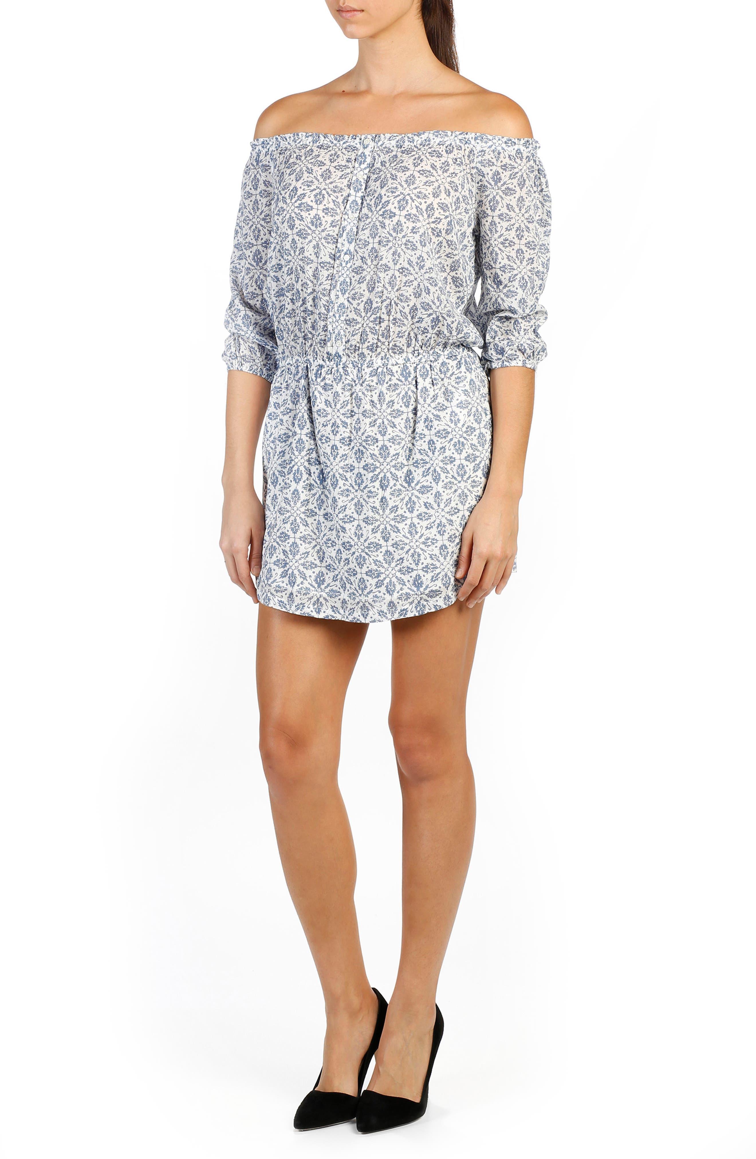Clover Off the Shoulder Dress,                         Main,                         color, 465