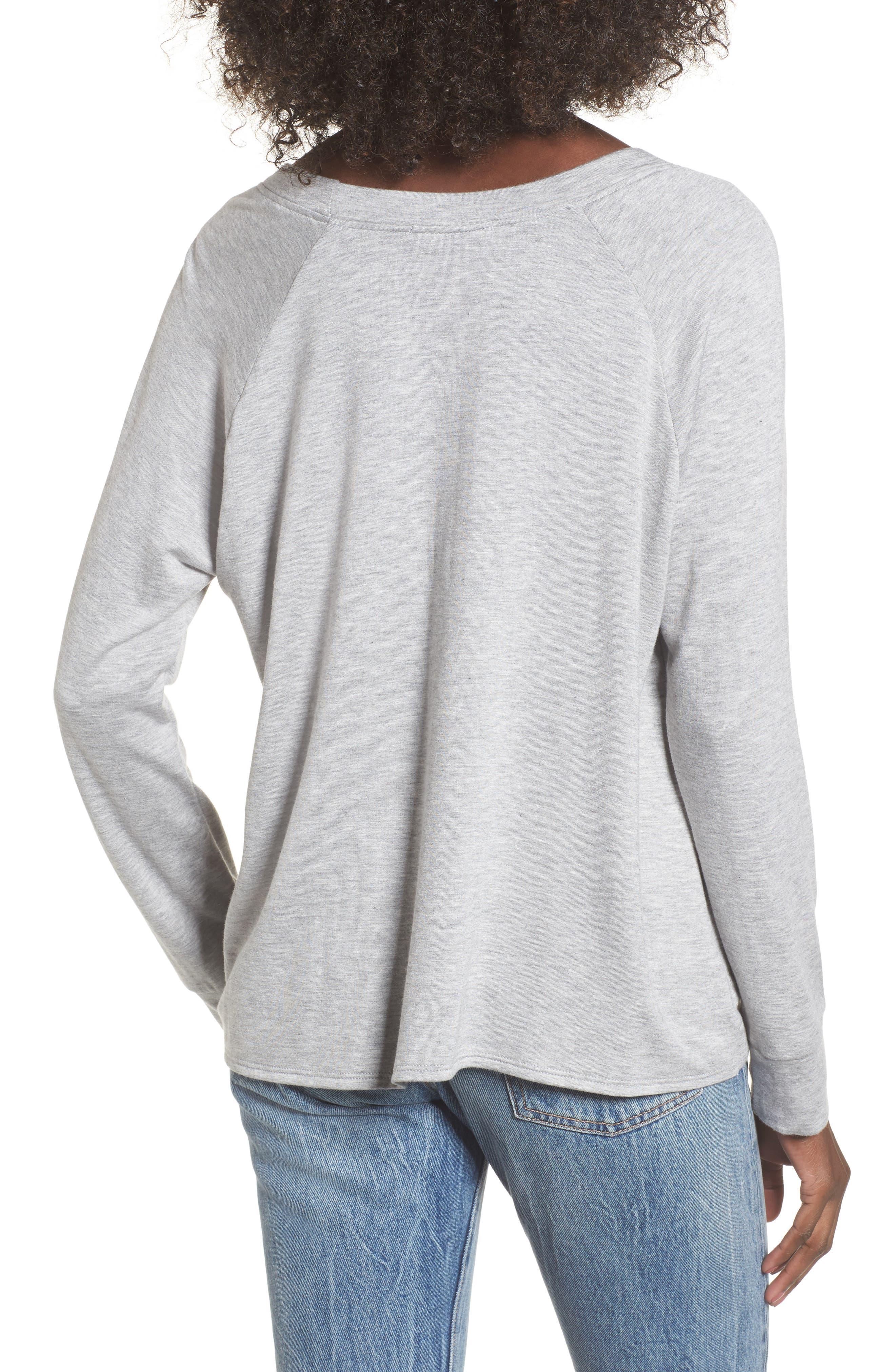 Tie Front Sweatshirt,                             Alternate thumbnail 2, color,                             036