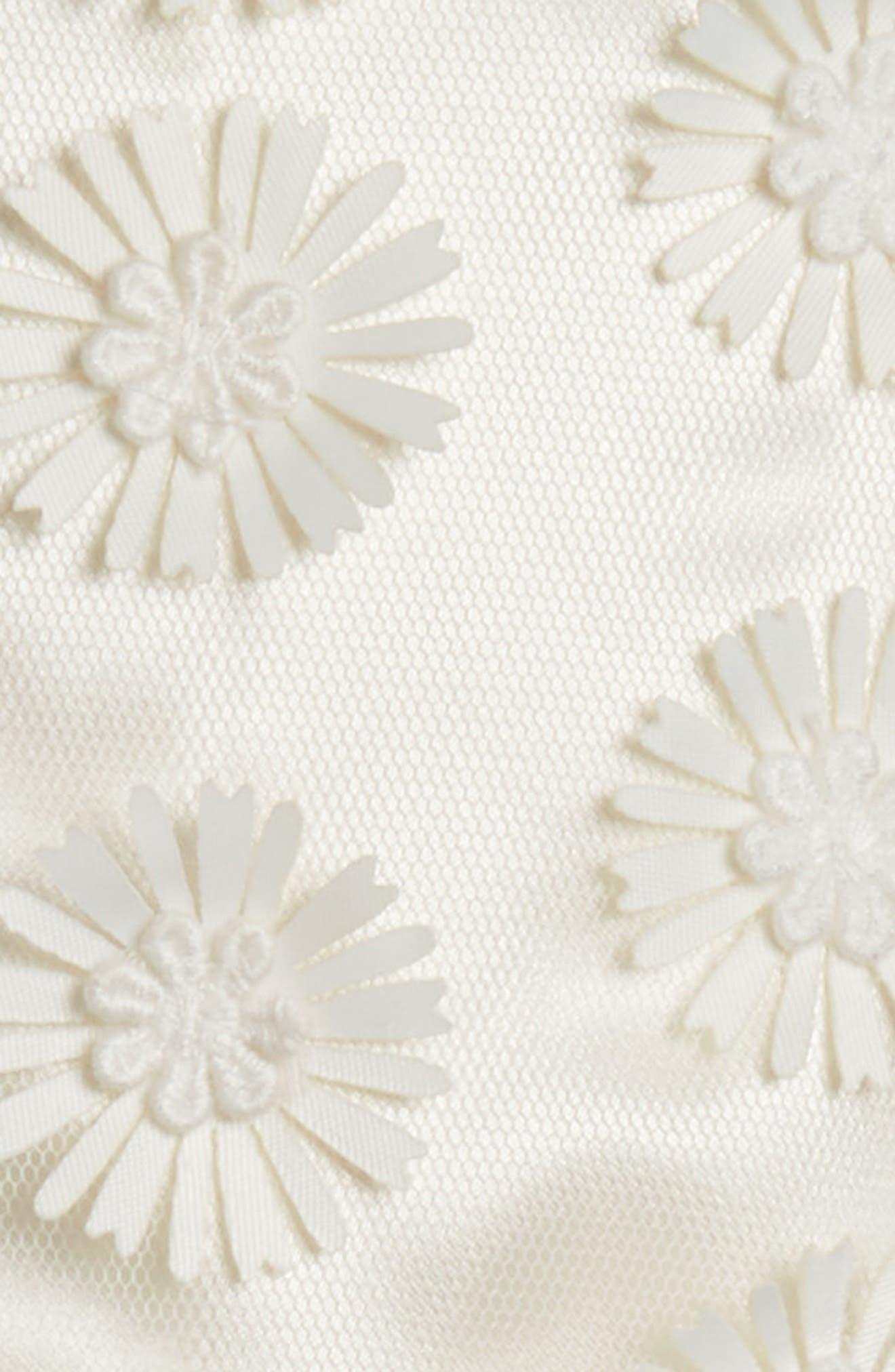 Daisy Sleeveless Dress,                             Alternate thumbnail 3, color,                             WHITE