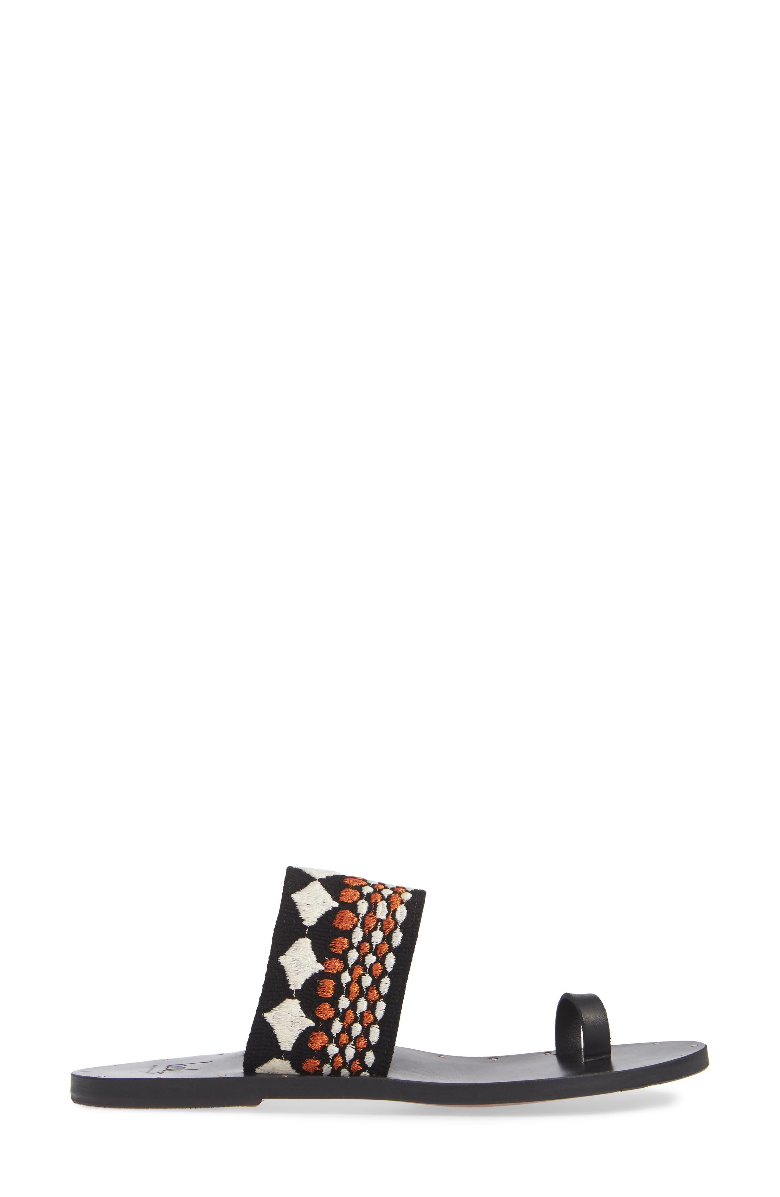 Dove Sandal,                             Alternate thumbnail 3, color,                             BLACK/ COPPER/ BLACK