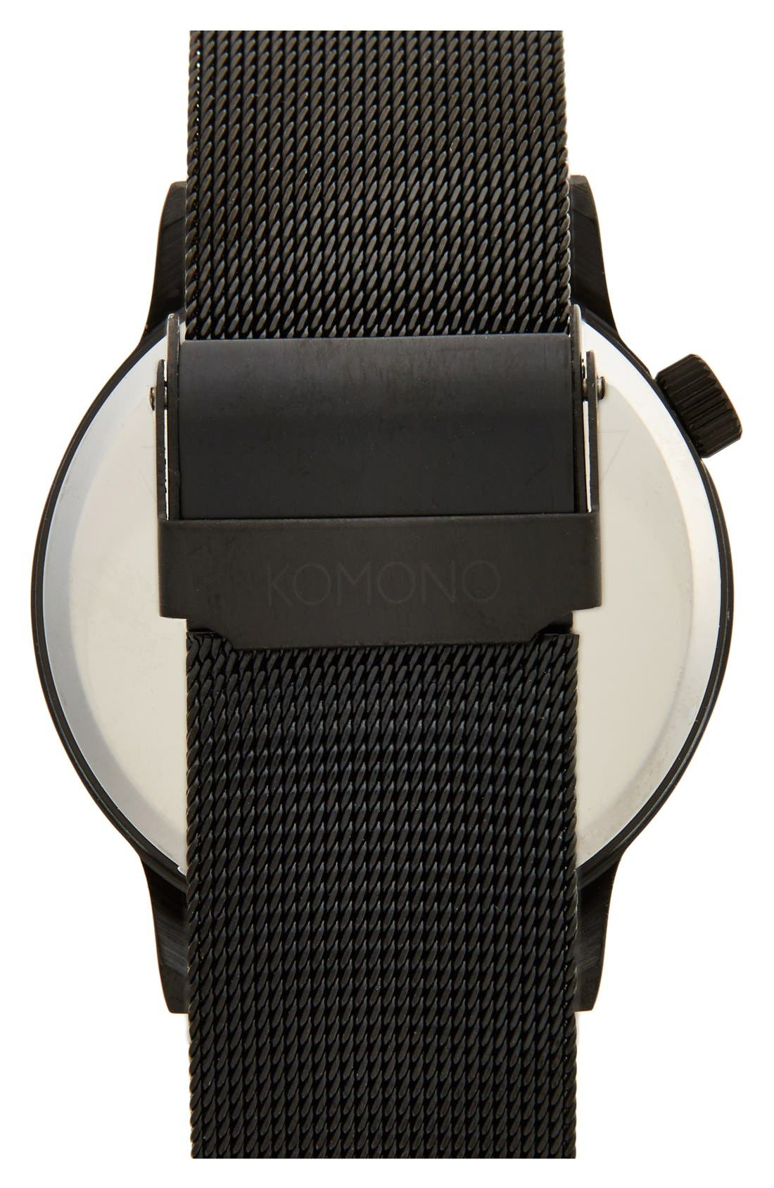 'Winston' Round Dial Strap Watch, 40mm,                             Alternate thumbnail 3, color,                             001