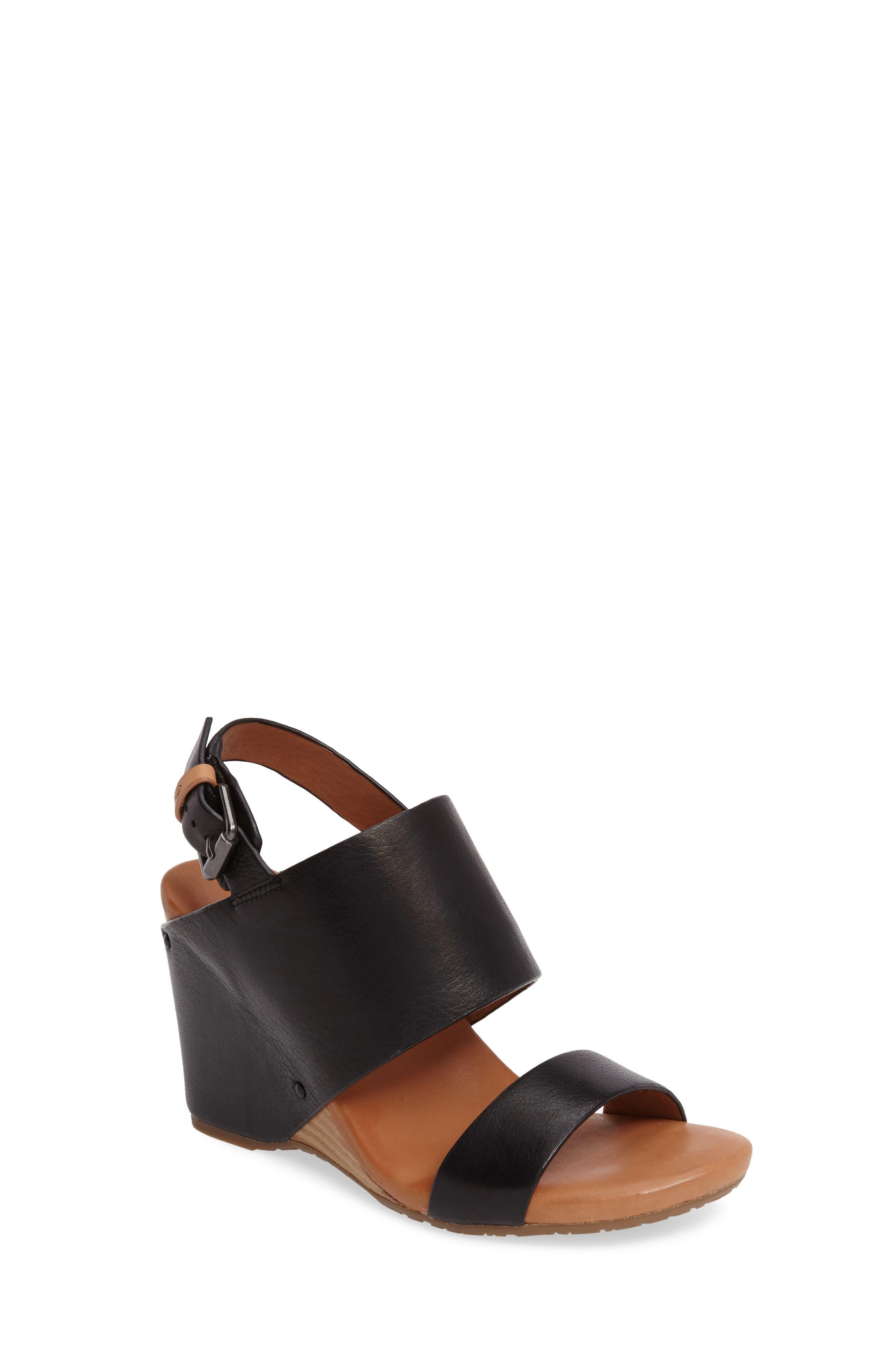 Inka Wedge Sandal,                         Main,                         color, 001