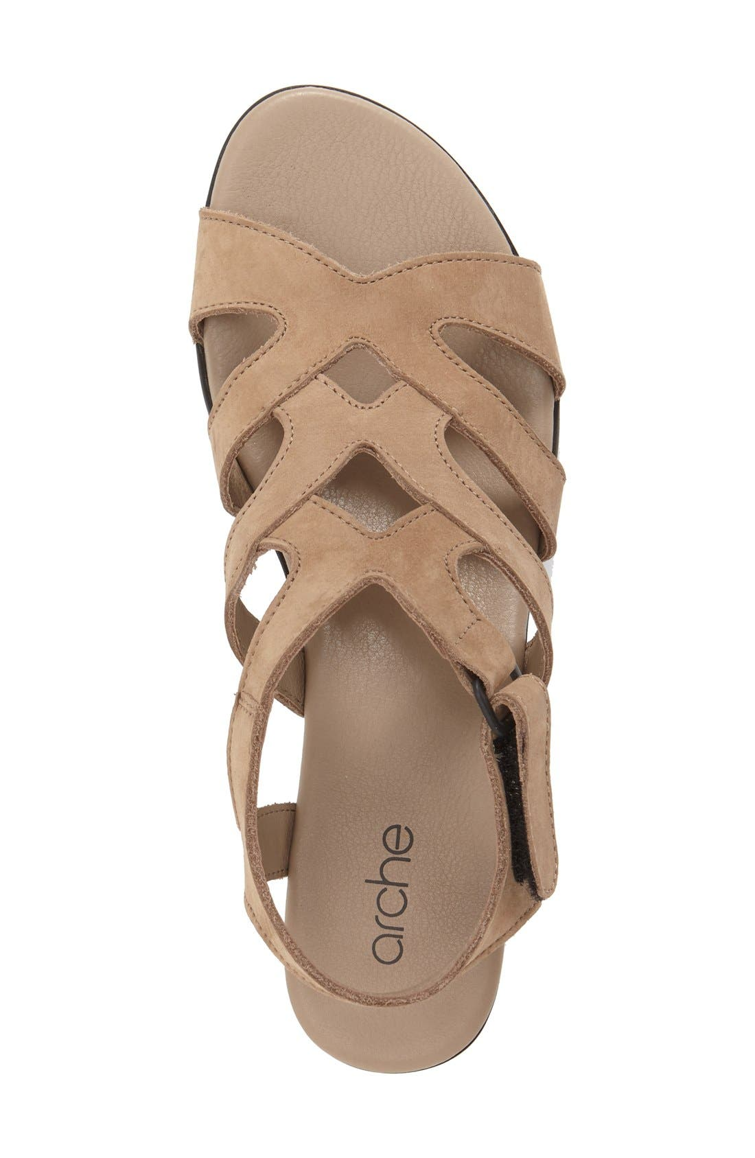 'Obela' Water Resistant Leather Sandal,                             Alternate thumbnail 16, color,