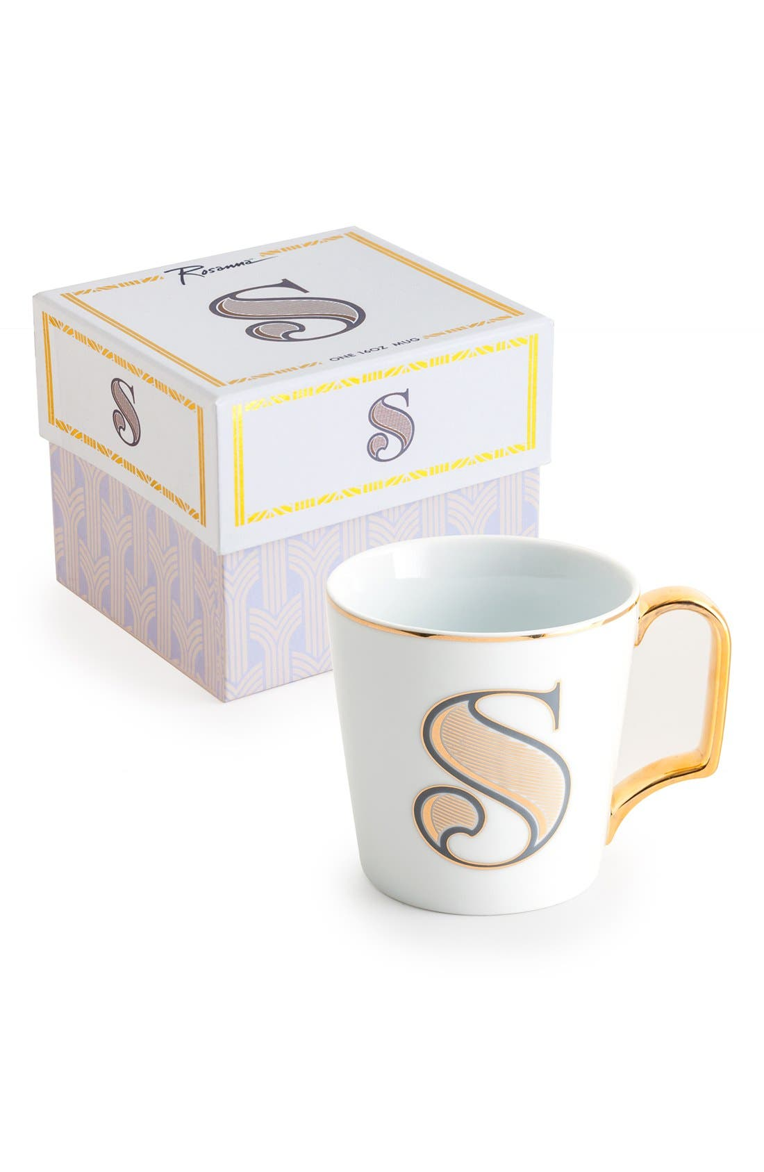 Monogram Porcelain Coffee Mug,                             Main thumbnail 15, color,