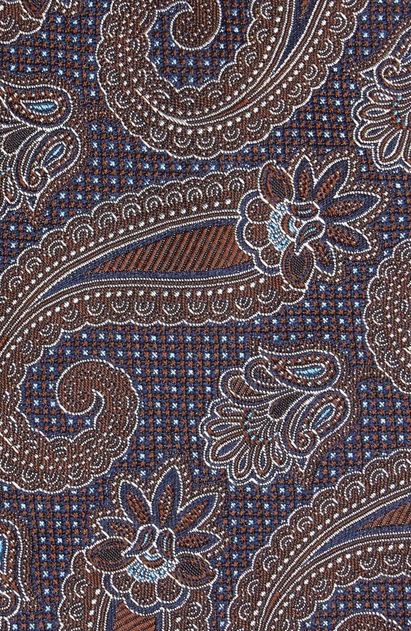 Emery Paisley Silk Tie,                             Alternate thumbnail 2, color,                             BROWN