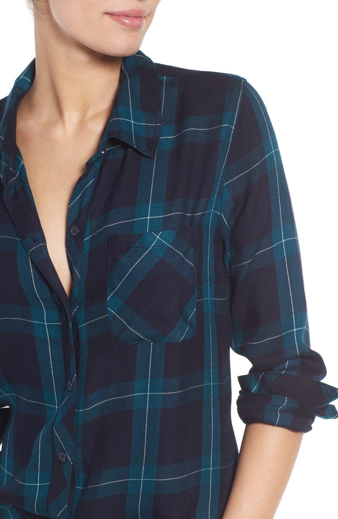 Hunter Plaid Shirt,                             Alternate thumbnail 504, color,