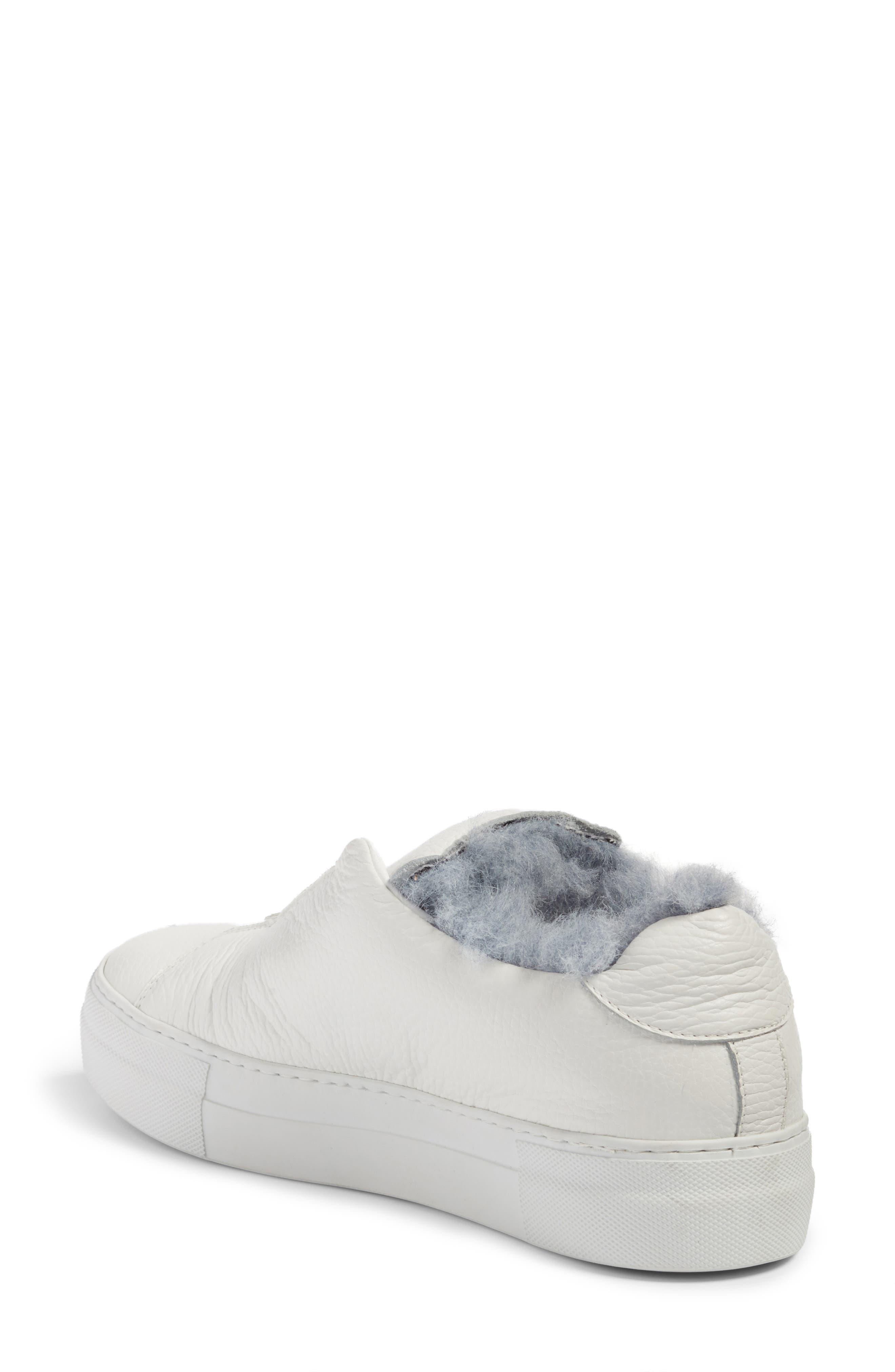 Faux Fur Slip-On Sneaker,                             Alternate thumbnail 3, color,
