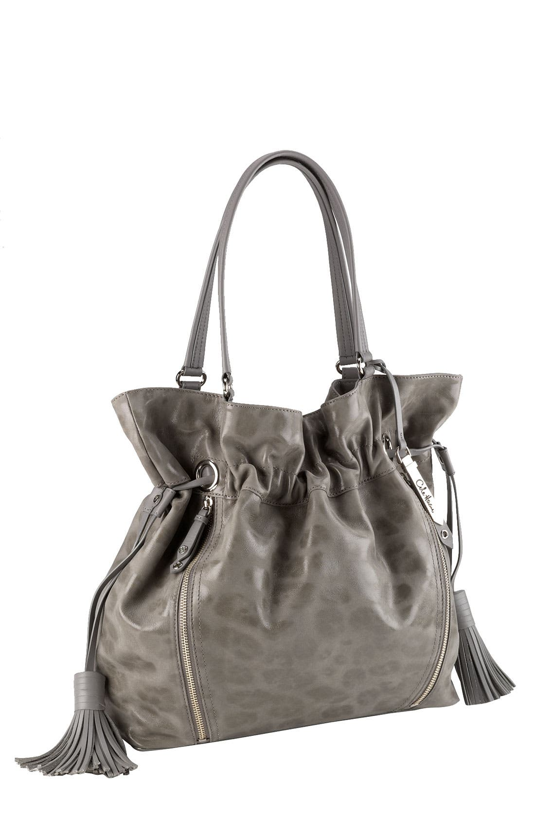 'Bailey' Pebbled Leather Drawstring Tote,                             Main thumbnail 5, color,