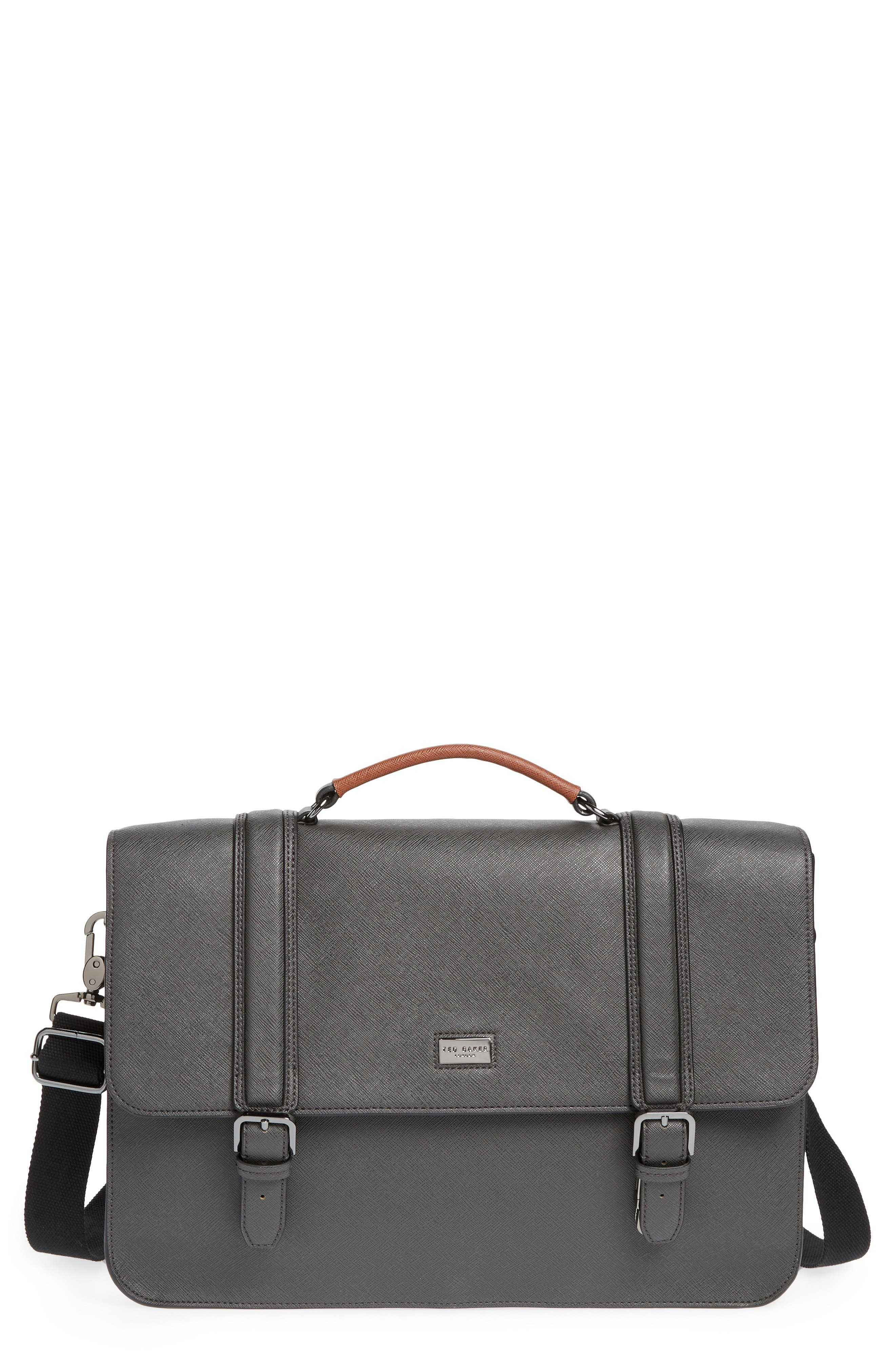 Crossgrain Messenger Bag,                         Main,                         color, CHARCOAL