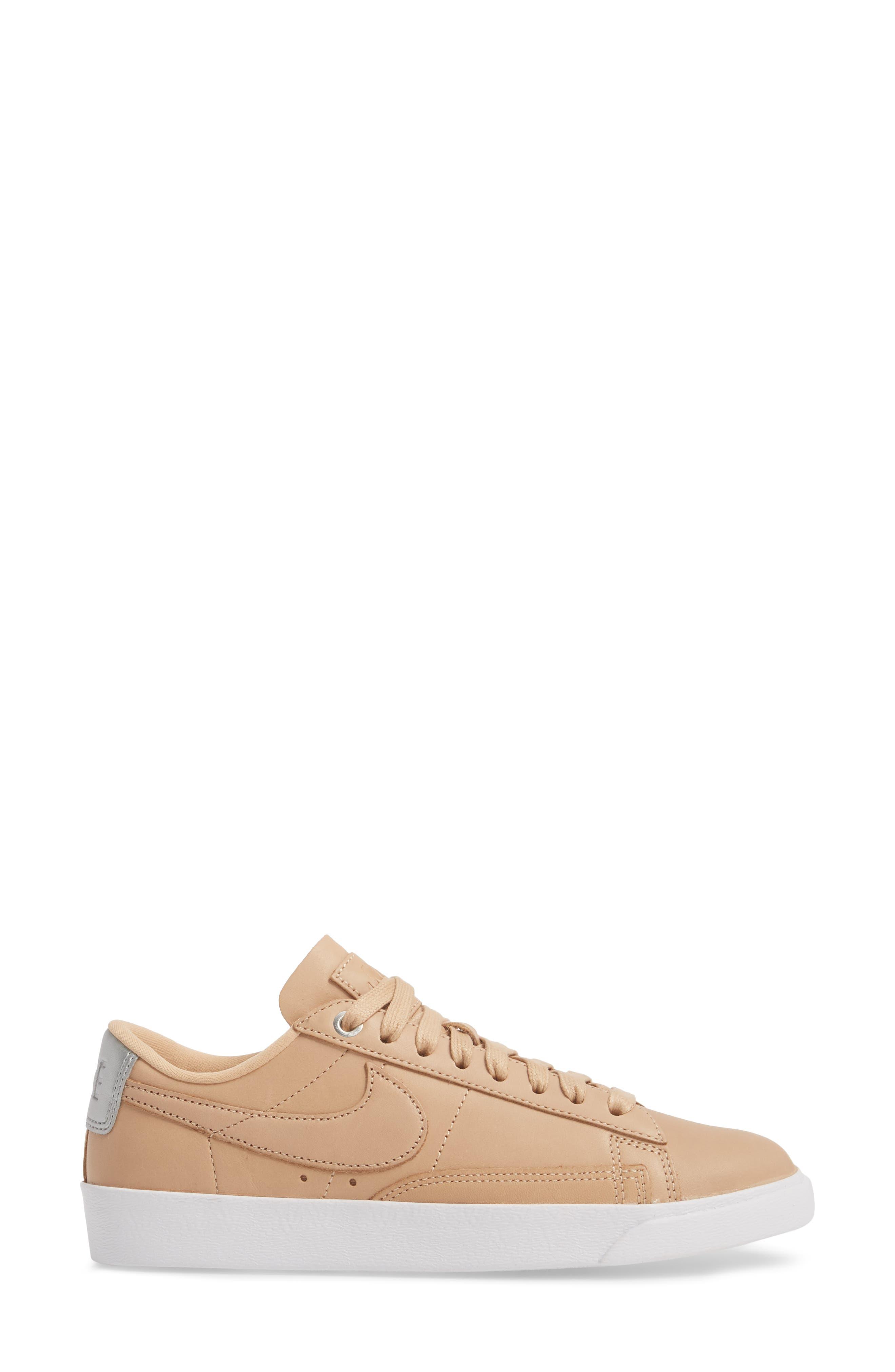 Blazer Low Top Sneaker SE,                             Alternate thumbnail 3, color,                             BIO BEIGE/ BIO BEIGE