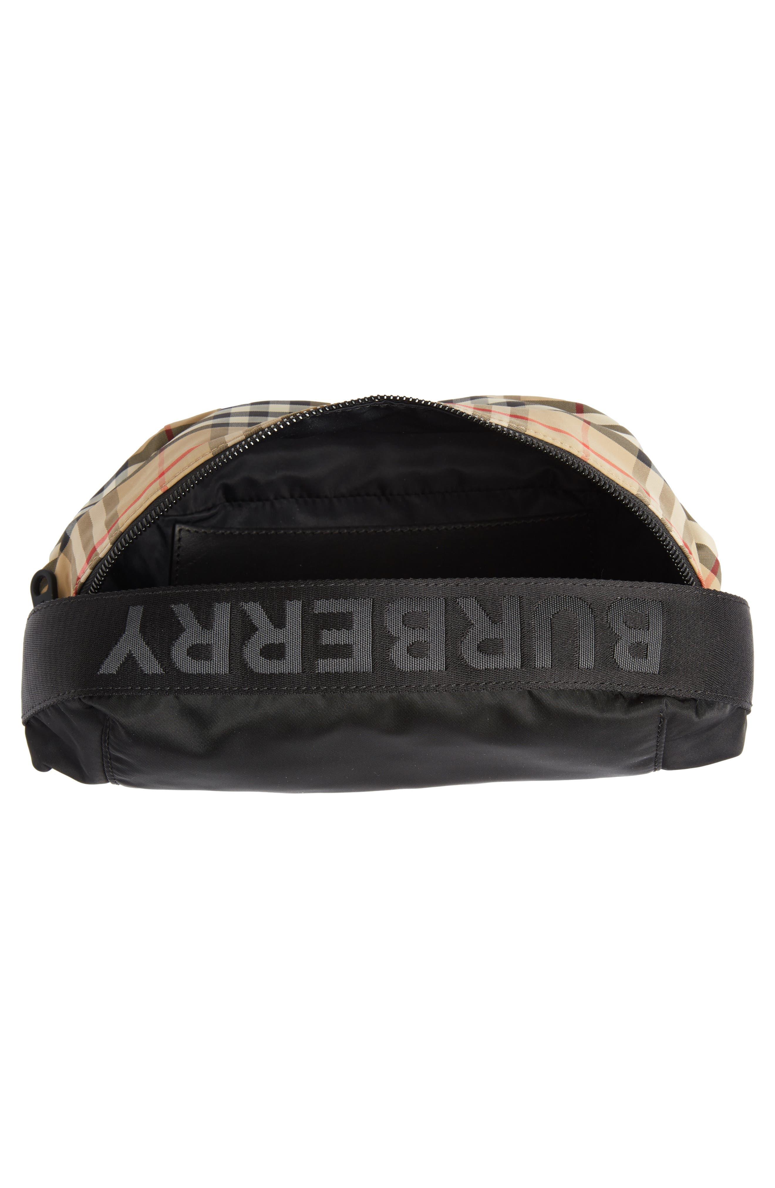 BURBERRY,                             Burberrry Medium Sonny Vintage Check Belt Bag,                             Alternate thumbnail 5, color,                             ARCHIVE BEIGE