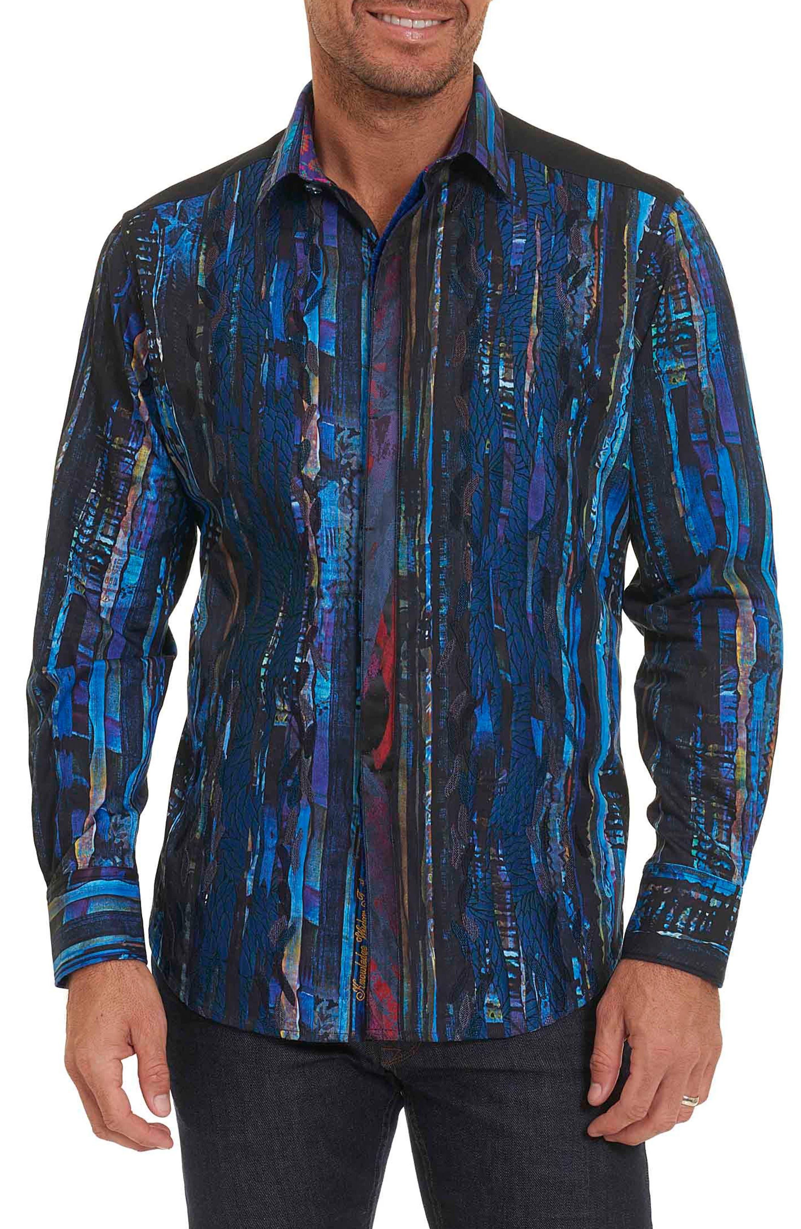 Kathleen's Blues Classic Fit Print Sport Shirt,                             Main thumbnail 1, color,                             460